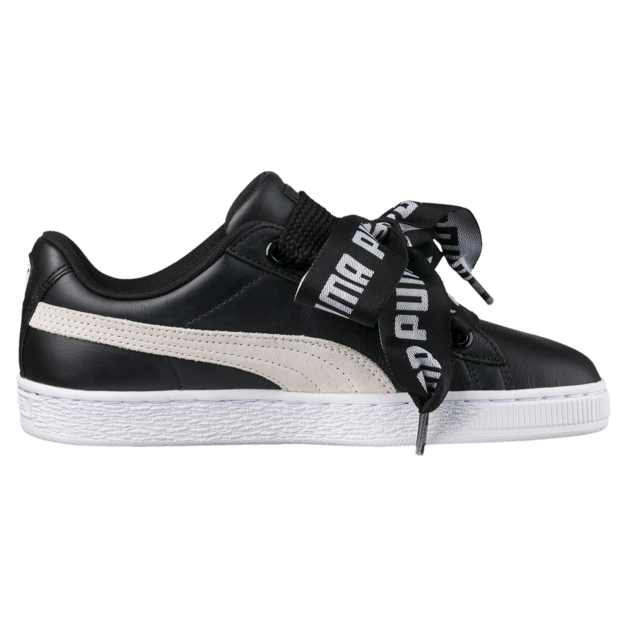 Details about Puma Womens Suede Heart Street 2 WNs Low Top Sneakers Black, 5.5 UK