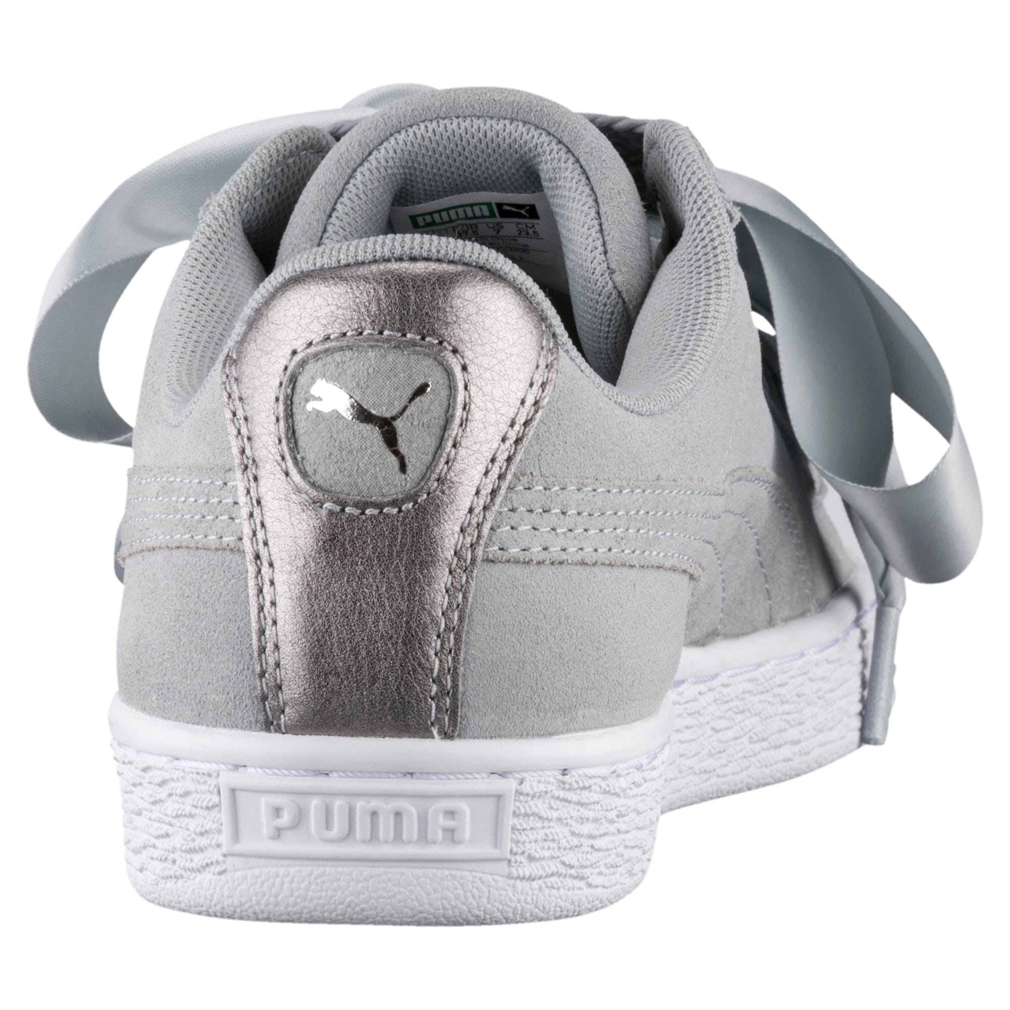 puma basket heart metallic