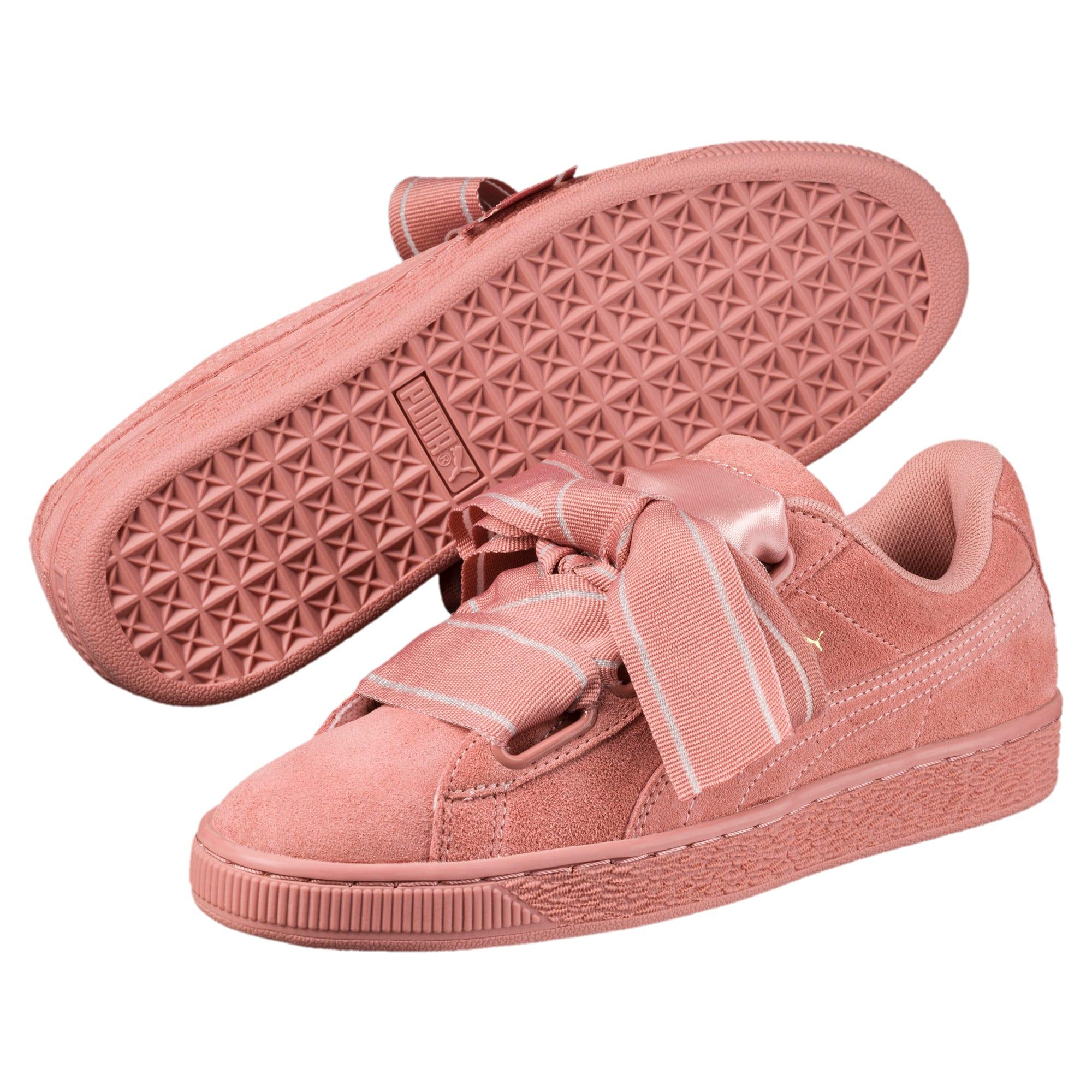 Thumbnail 2 of Suede Heart Satin II Women's Sneakers, Cameo Brown-Cameo Brown, medium