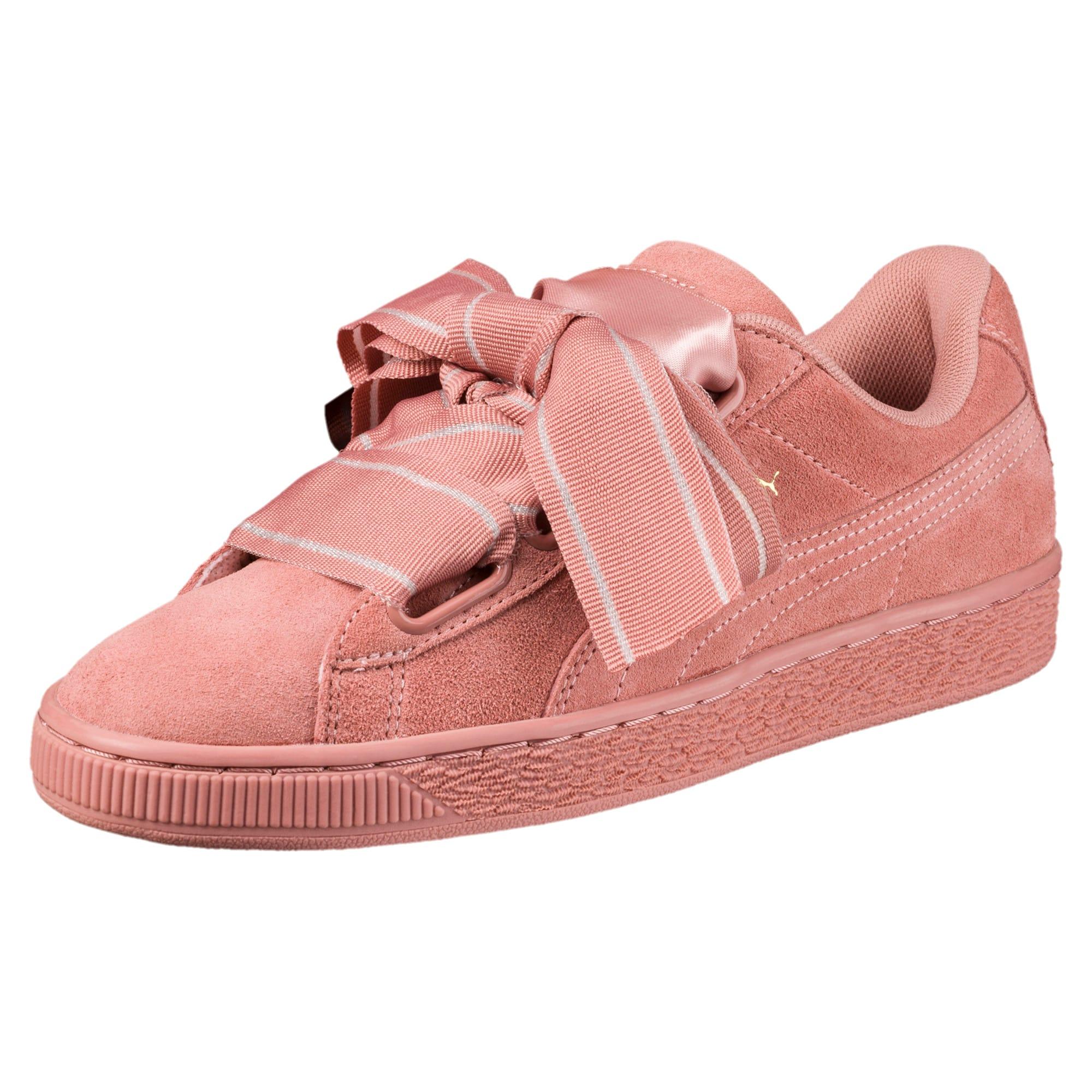 Thumbnail 1 of Suede Heart Satin II Women's Sneakers, Cameo Brown-Cameo Brown, medium