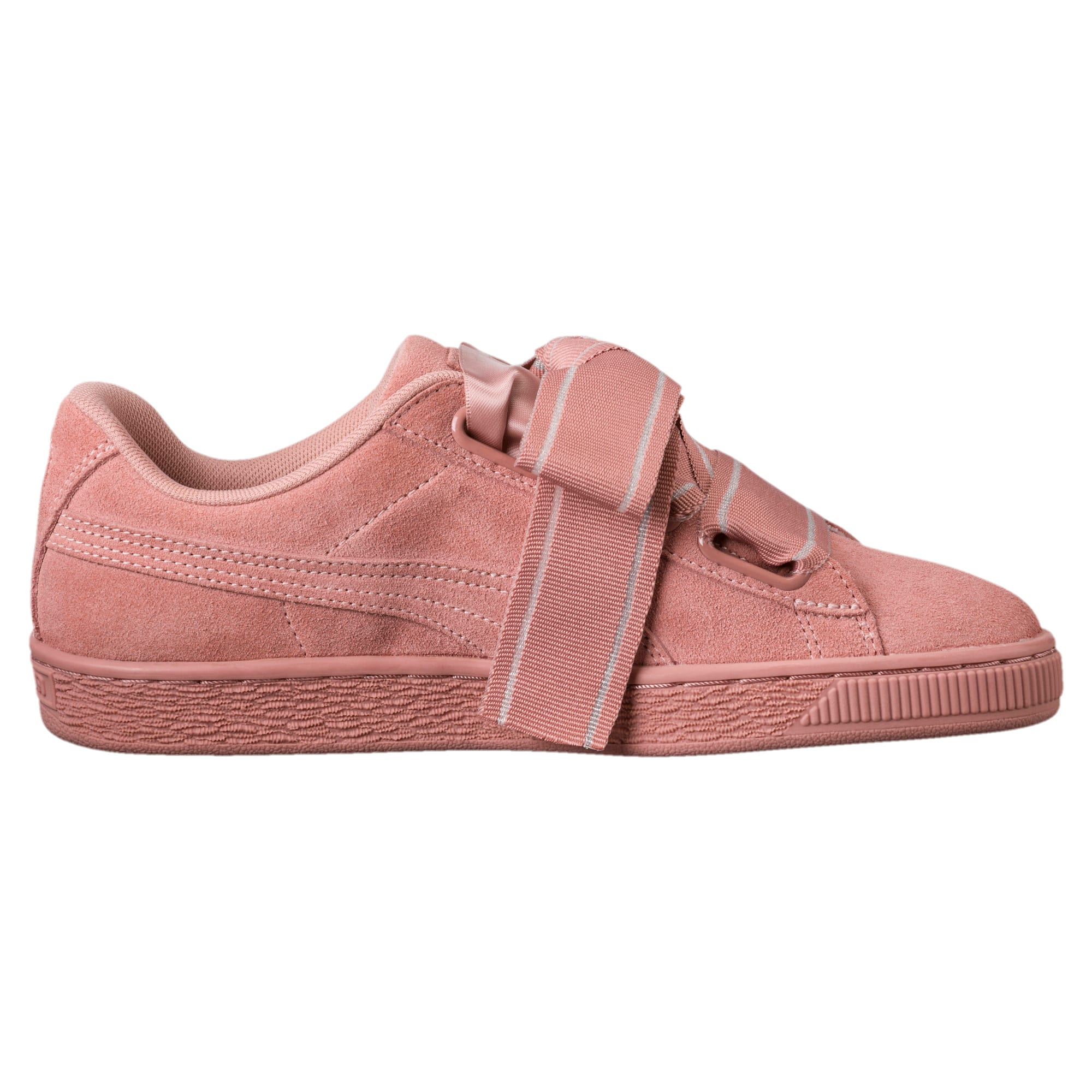 Thumbnail 3 of Suede Heart Satin II Women's Sneakers, Cameo Brown-Cameo Brown, medium