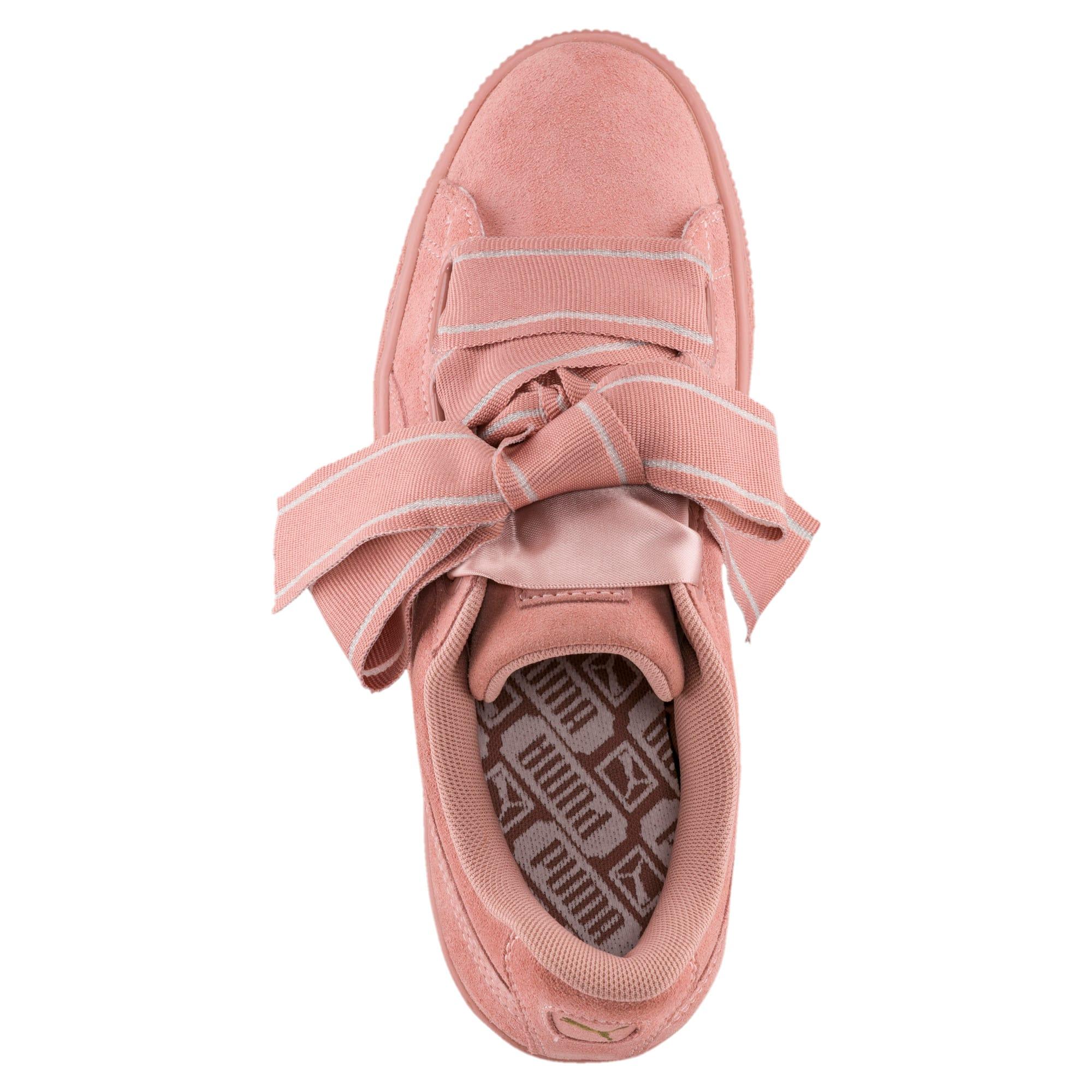 Thumbnail 5 of Suede Heart Satin II Women's Sneakers, Cameo Brown-Cameo Brown, medium