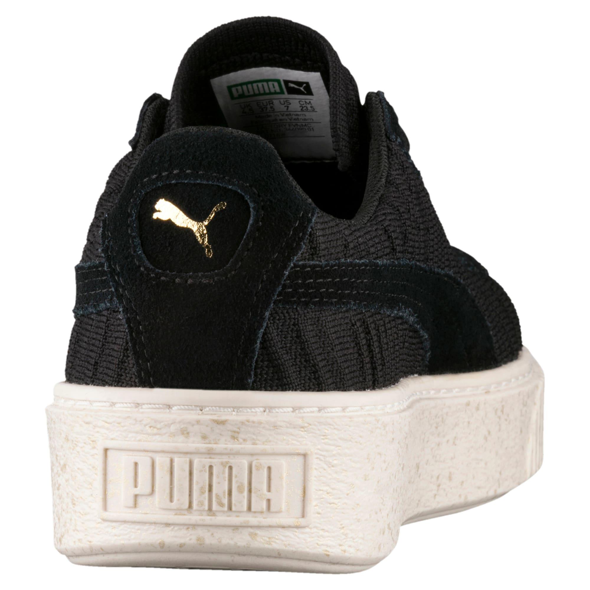 Thumbnail 4 of Basket Platform Women's Sneakers, PBlack-PBlack-Whisper White, medium
