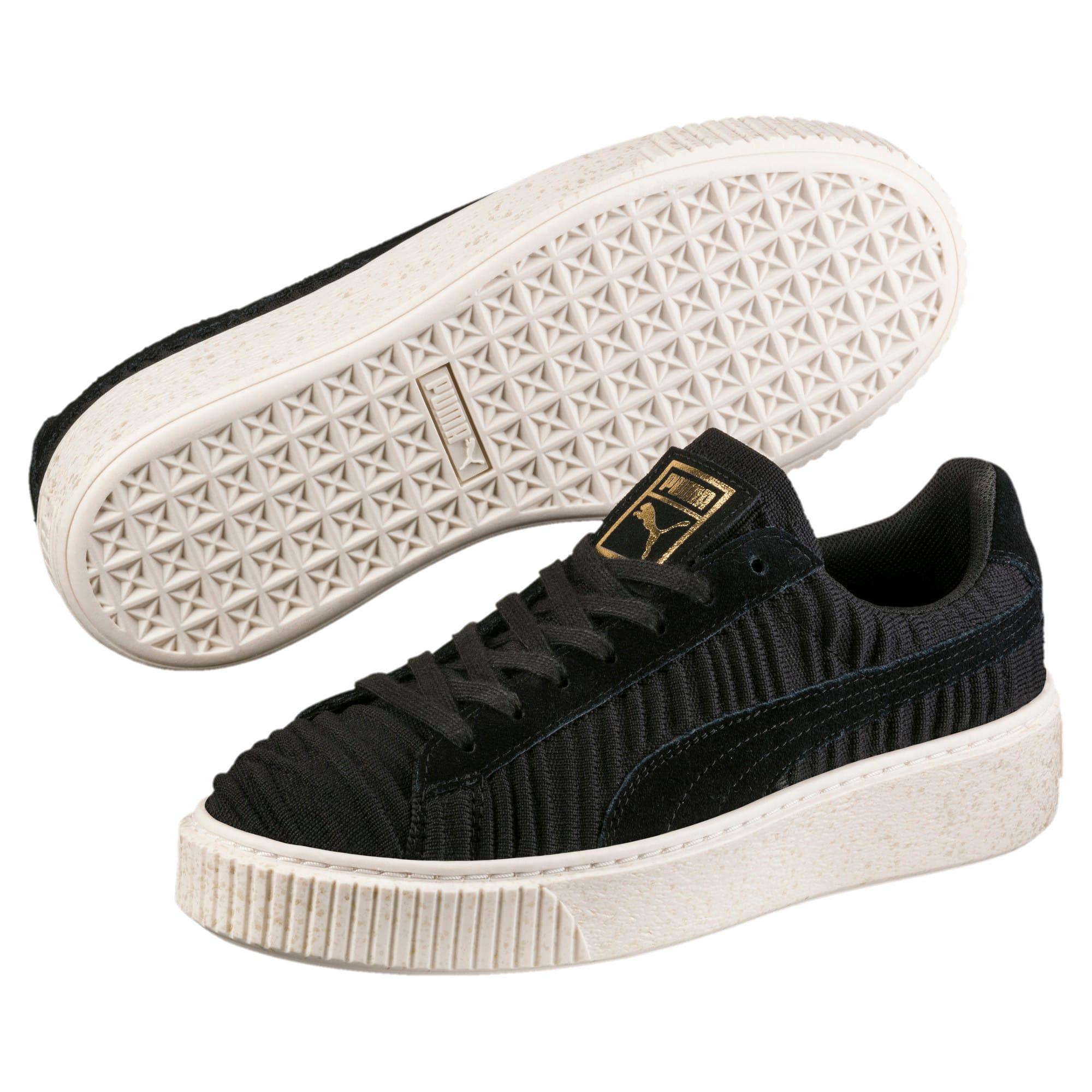 Thumbnail 2 of Basket Platform Women's Sneakers, PBlack-PBlack-Whisper White, medium