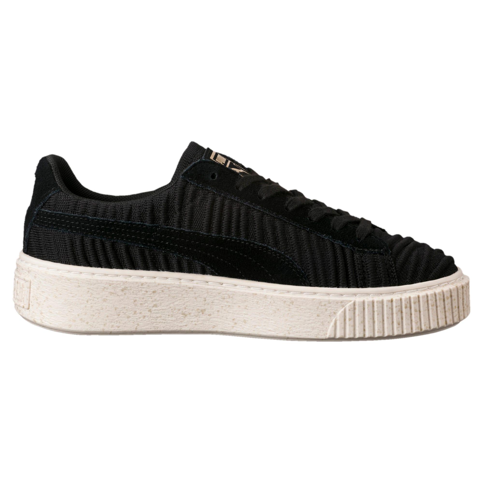 Thumbnail 3 of Basket Platform Women's Sneakers, PBlack-PBlack-Whisper White, medium