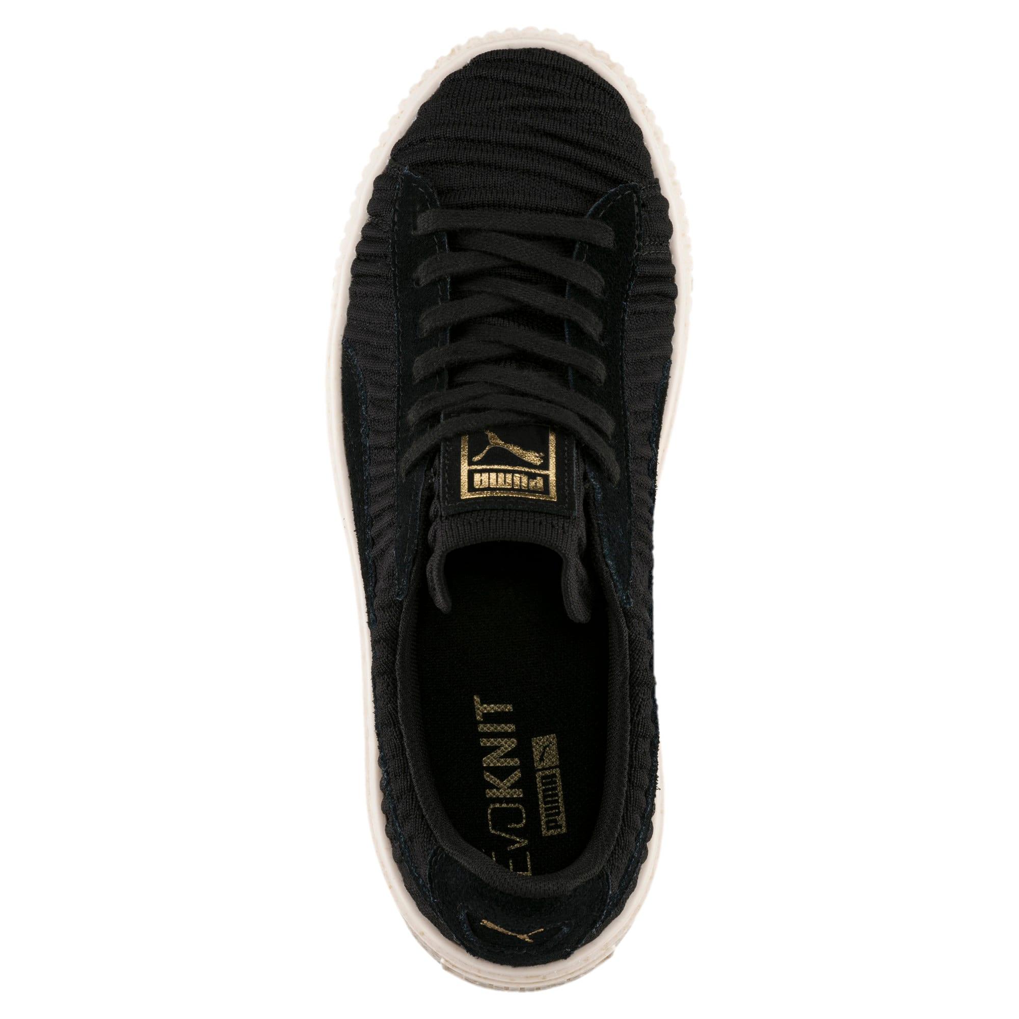 Thumbnail 5 of Basket Platform Women's Sneakers, PBlack-PBlack-Whisper White, medium