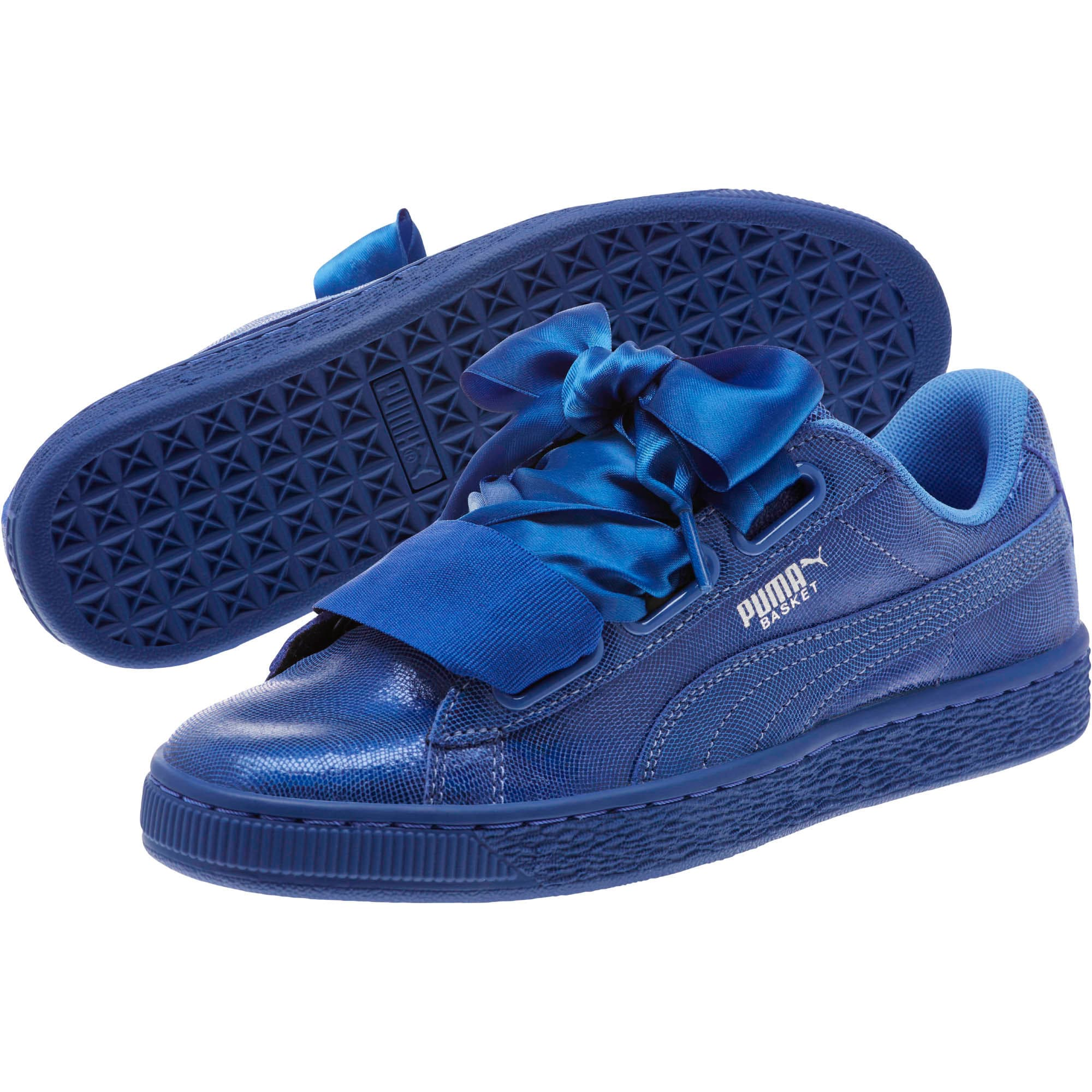 Thumbnail 2 of Basket Heart Opulence Women's Sneakers, Baja Blue-Baja Blue, medium