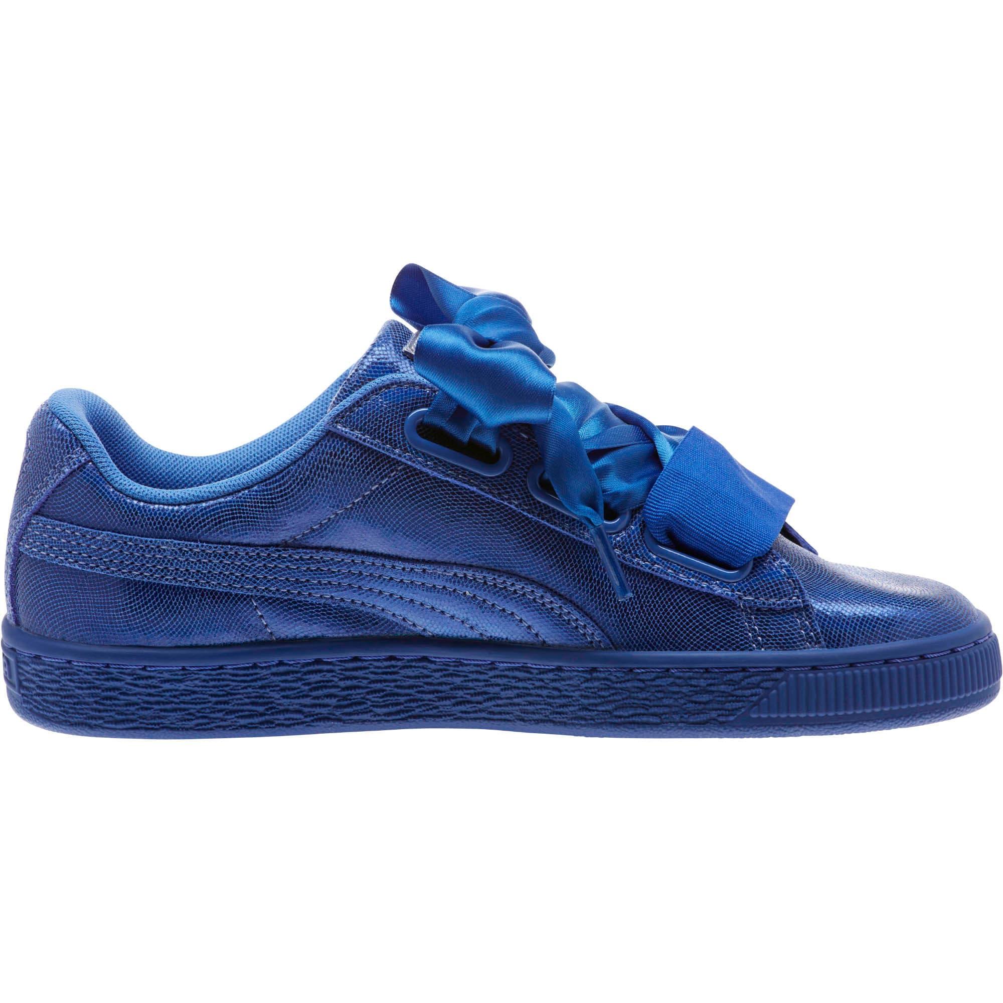 Thumbnail 3 of Basket Heart Opulence Women's Sneakers, Baja Blue-Baja Blue, medium