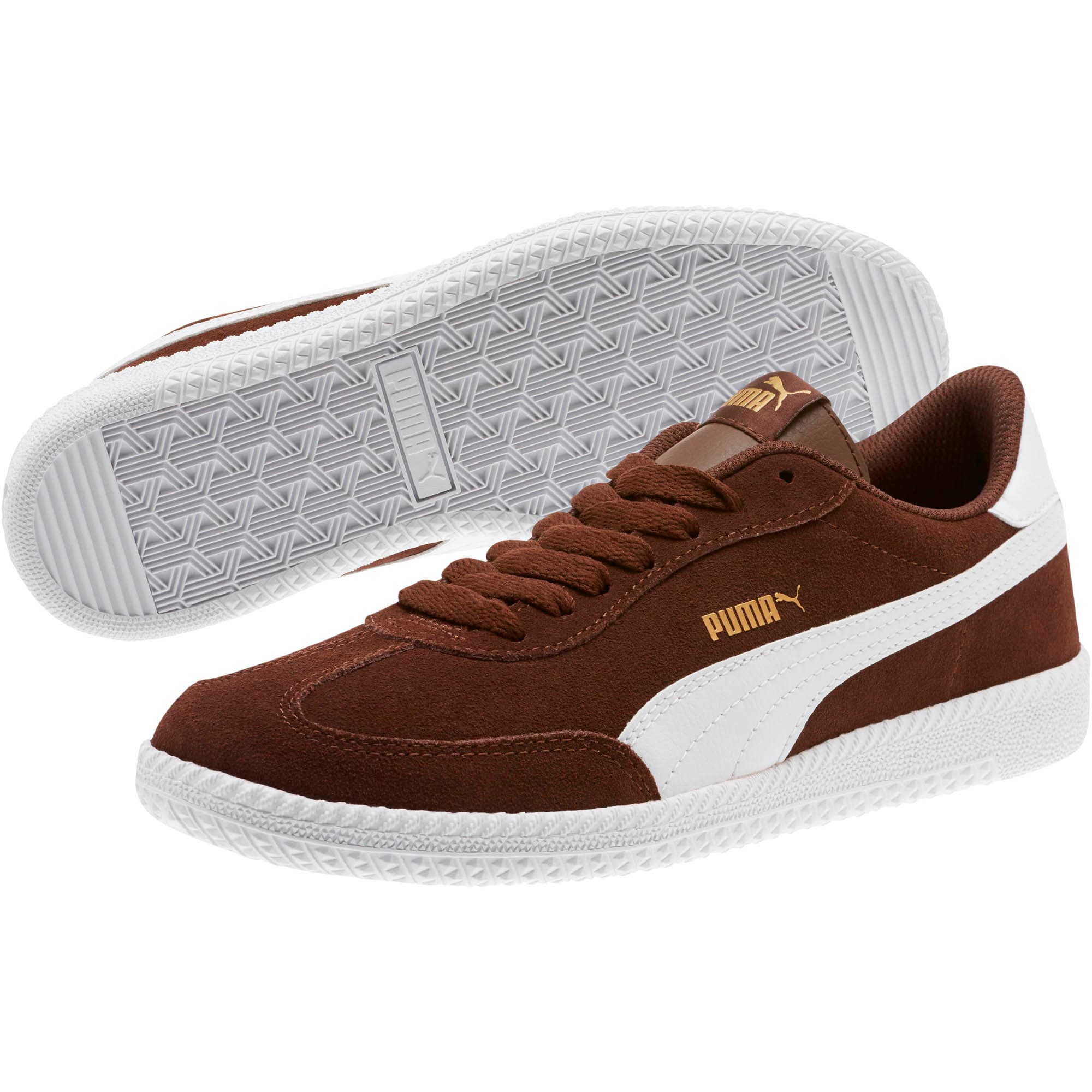 Thumbnail 2 of Astro Cup Suede Sneakers, Chestnut-Puma White, medium