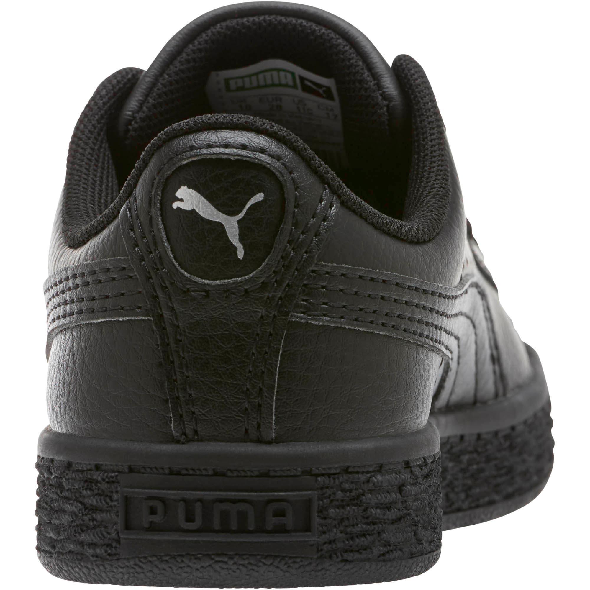Thumbnail 3 of Basket Classic Little Kids' Shoes, Puma Black-Puma Black, medium