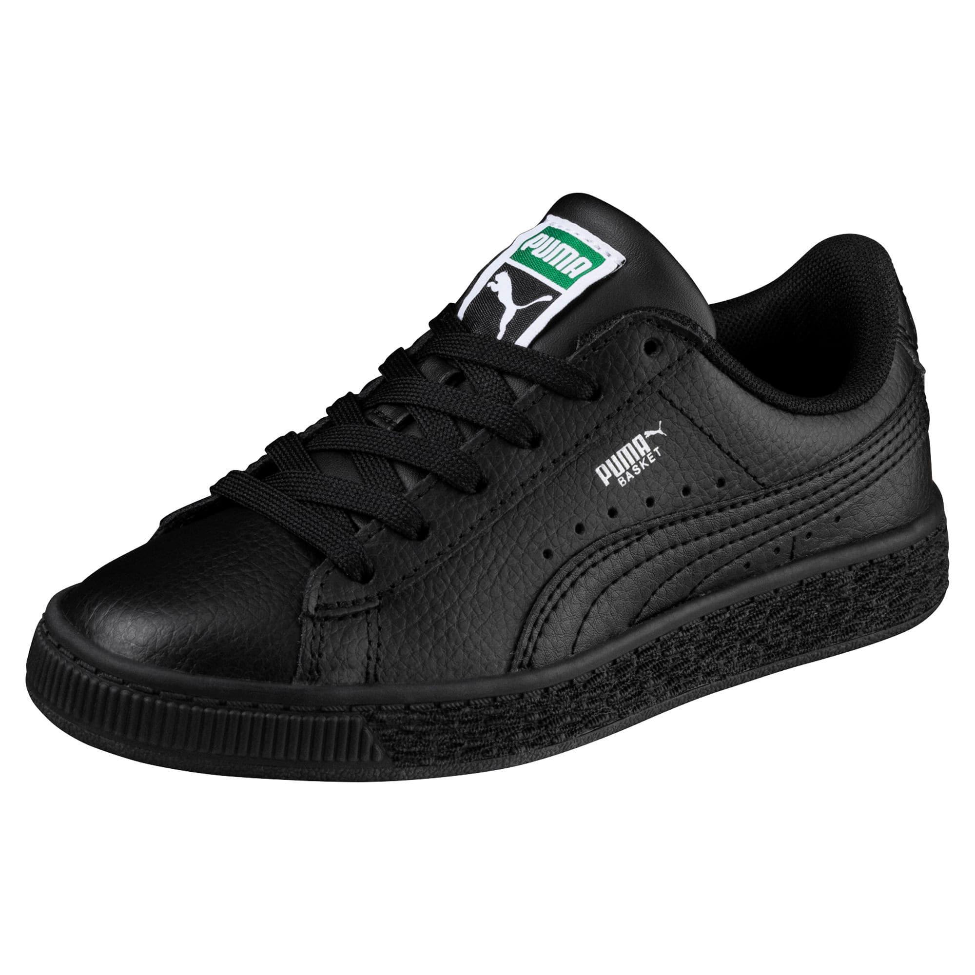 Thumbnail 2 of Basket Classic Little Kids' Shoes, Puma Black-Puma Black, medium