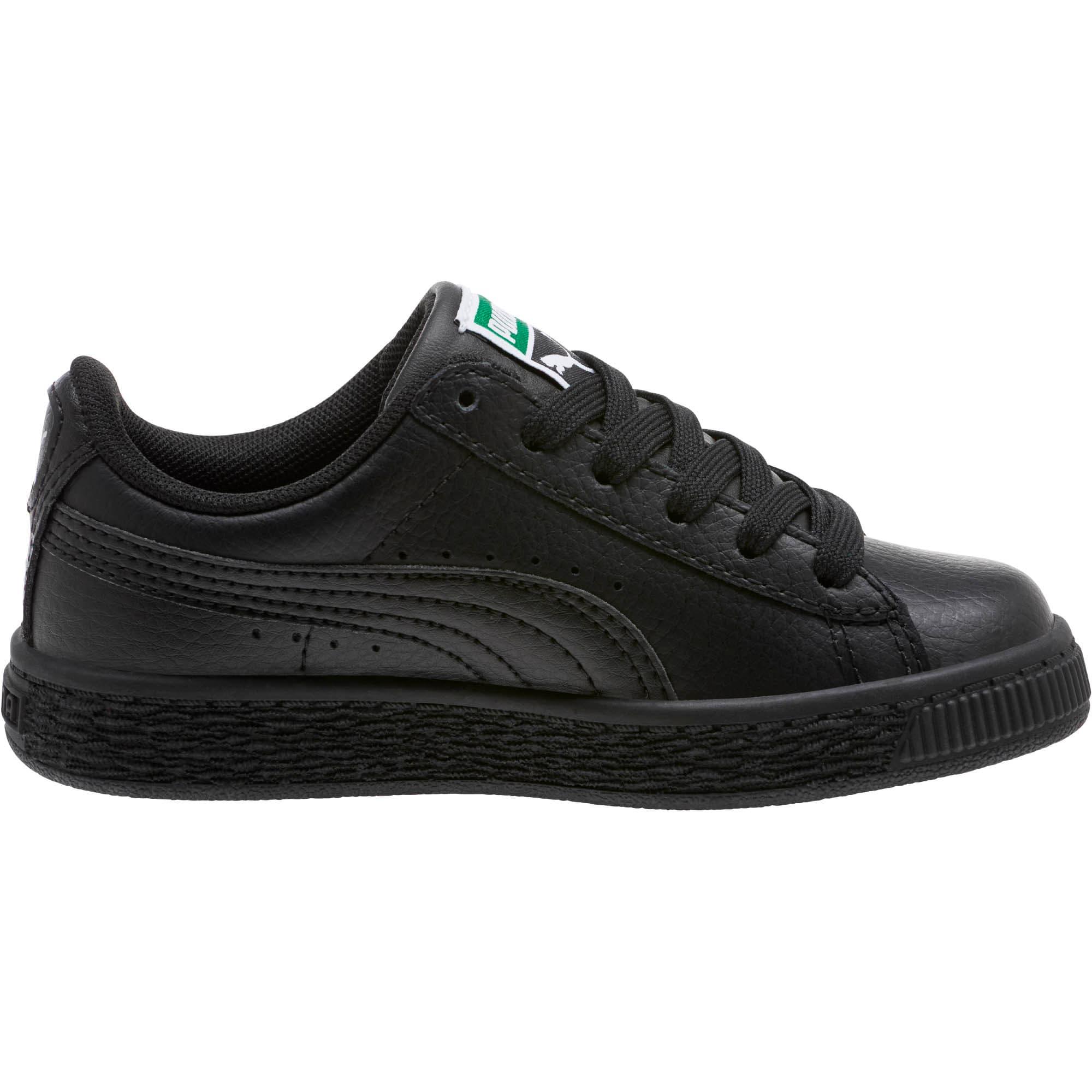 Thumbnail 4 of Basket Classic Little Kids' Shoes, Puma Black-Puma Black, medium