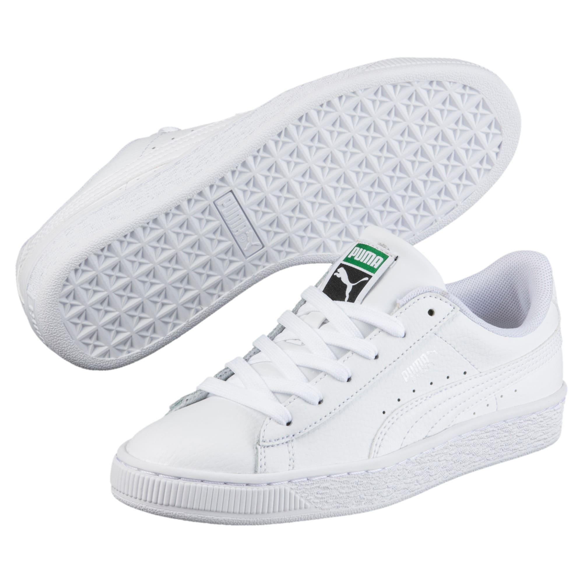 Thumbnail 2 of Basket Classic Little Kids' Shoes, Puma White-Puma White, medium