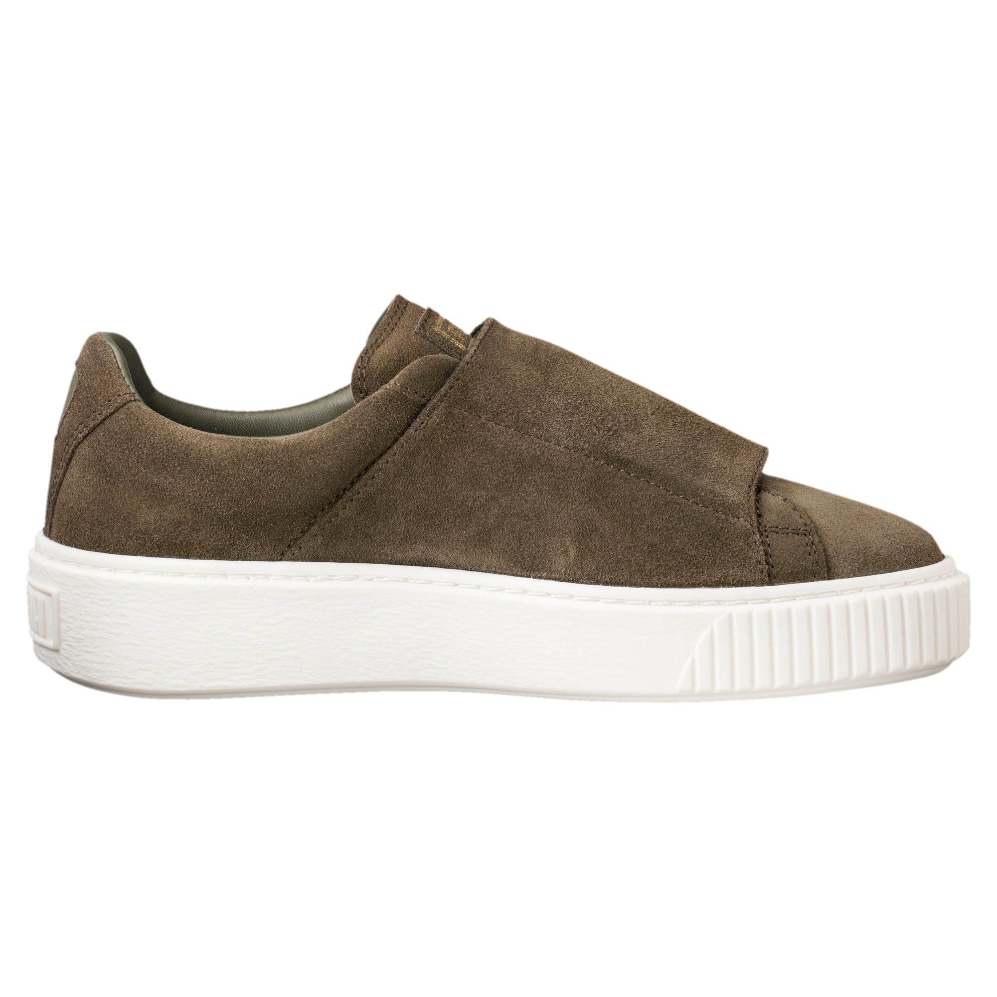 the latest d0f6b 661a0 Suede Platform Big Strap Women's Sneakers