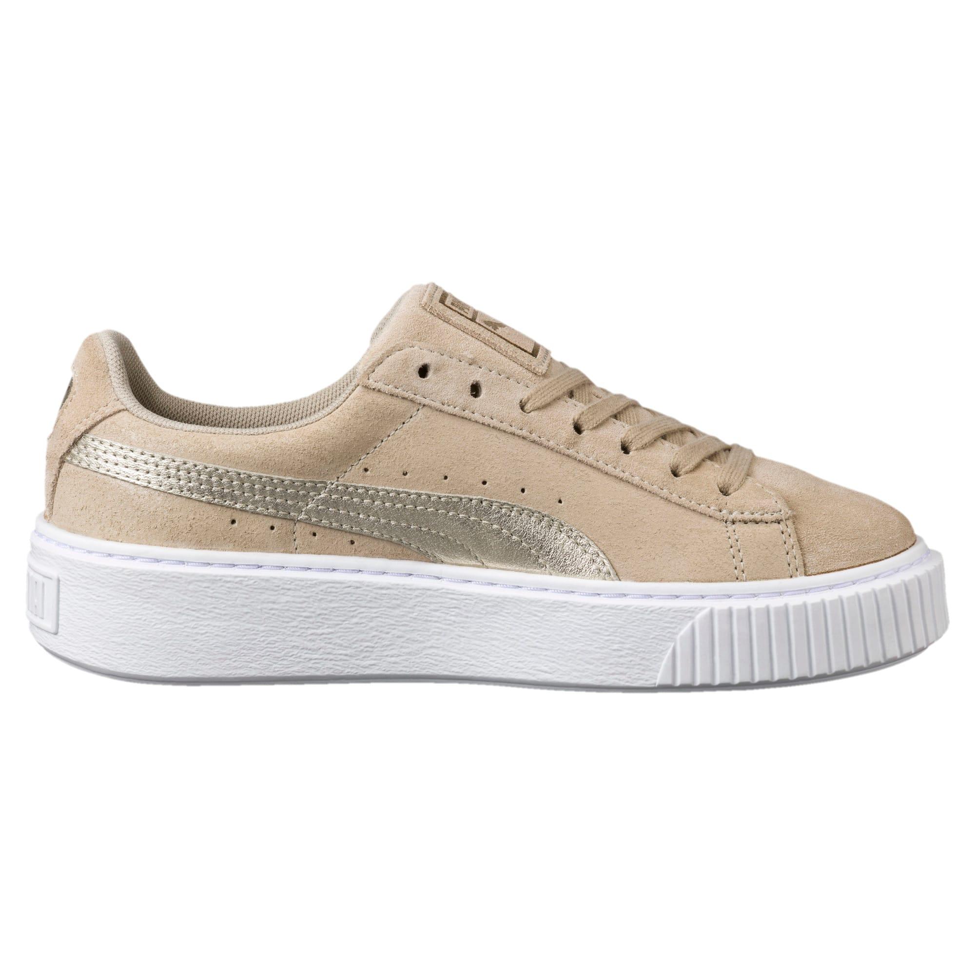 promo code 50e09 8cbe8 Suede Platform Metallic Safari Women's Sneakers
