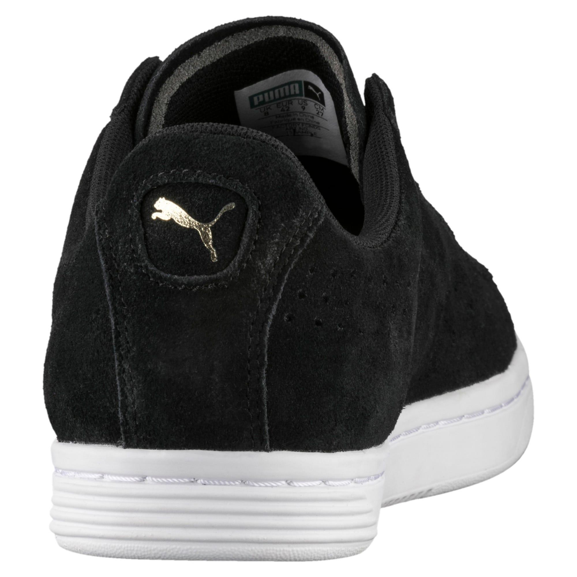 Thumbnail 4 of Court Star Suede Sneakers, Puma Black, medium