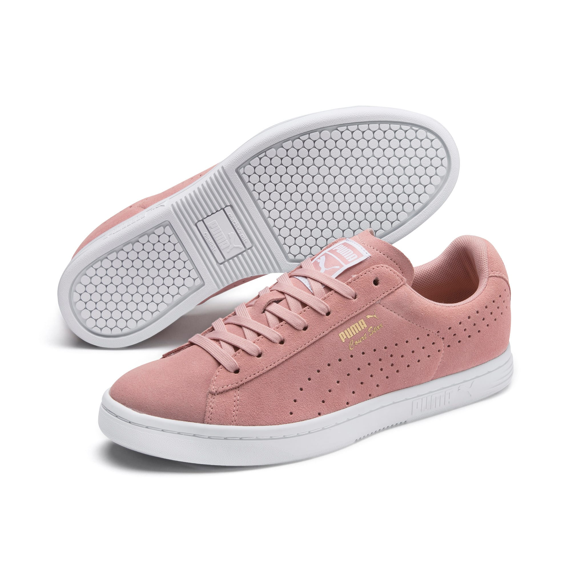 Thumbnail 2 of Court Star Suede Sneakers, Bridal Rose-Puma White, medium