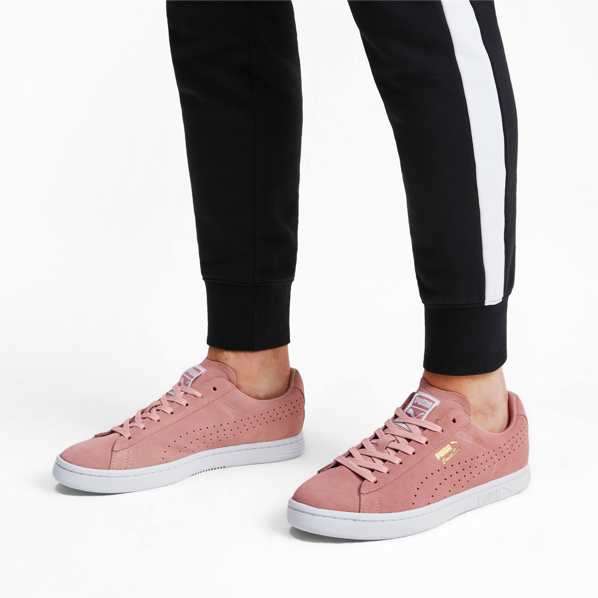 Thumbnail 3 of Court Star Suede Sneakers, Bridal Rose-Puma White, medium