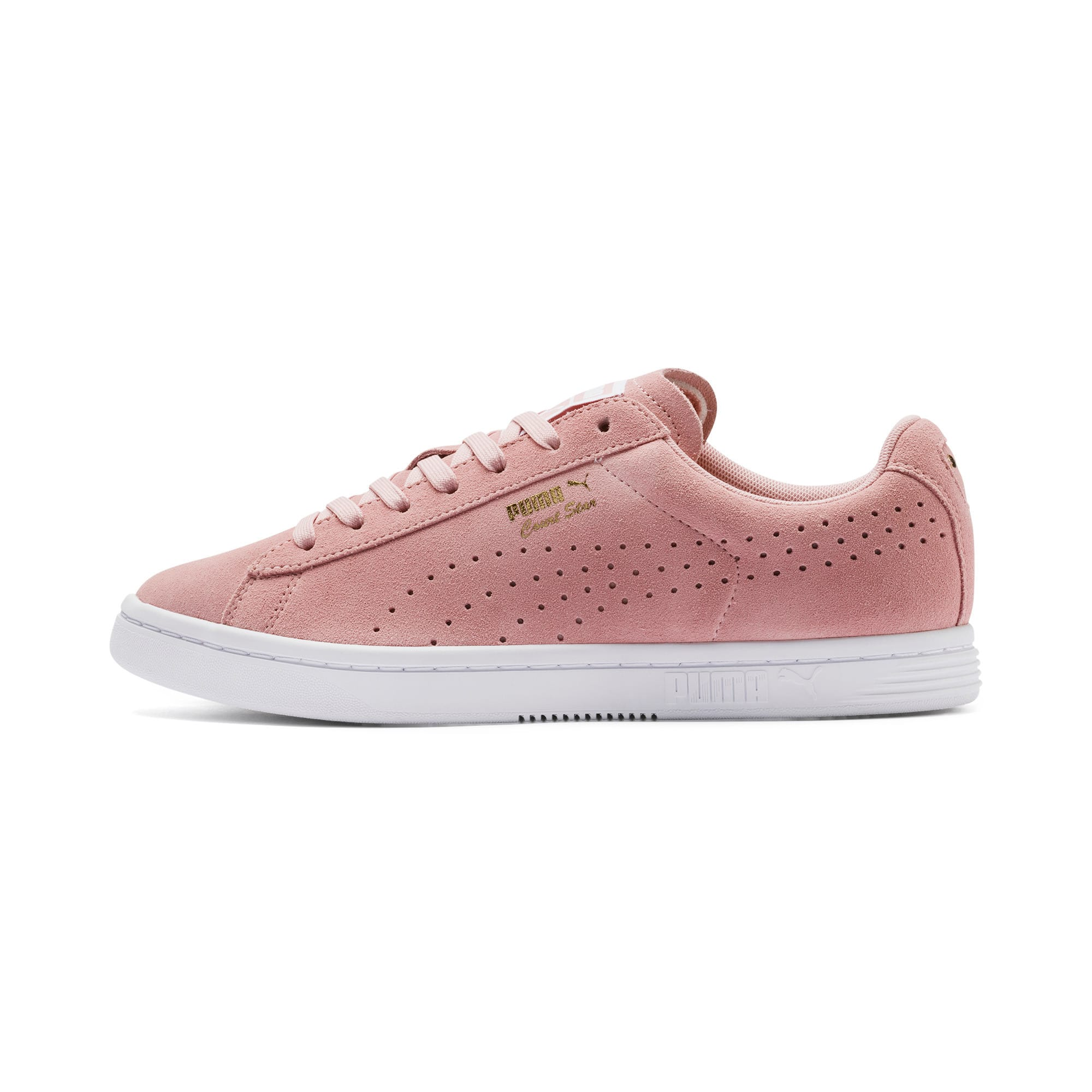 Thumbnail 1 of Court Star Suede Sneakers, Bridal Rose-Puma White, medium