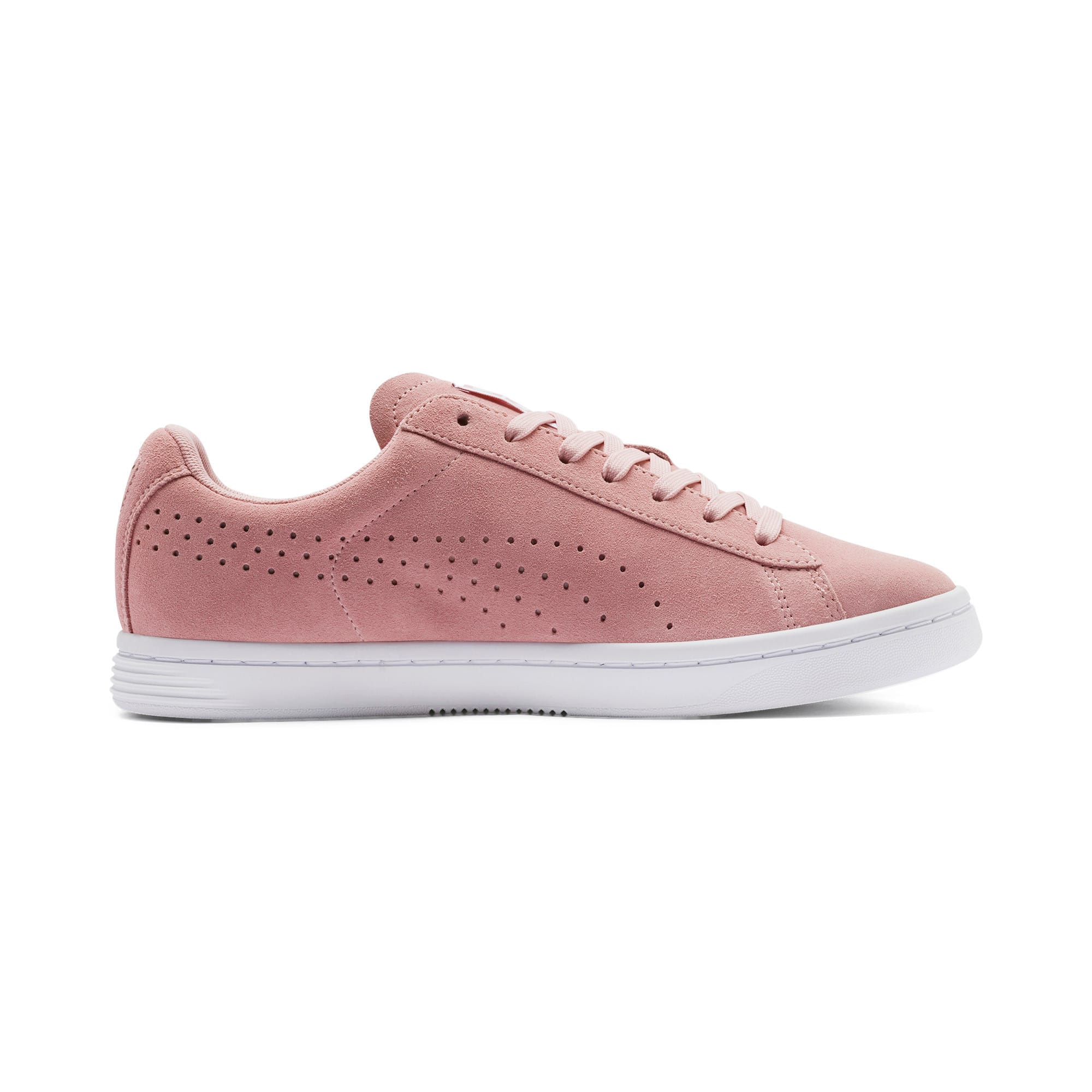 Thumbnail 6 of Court Star Suede Sneakers, Bridal Rose-Puma White, medium