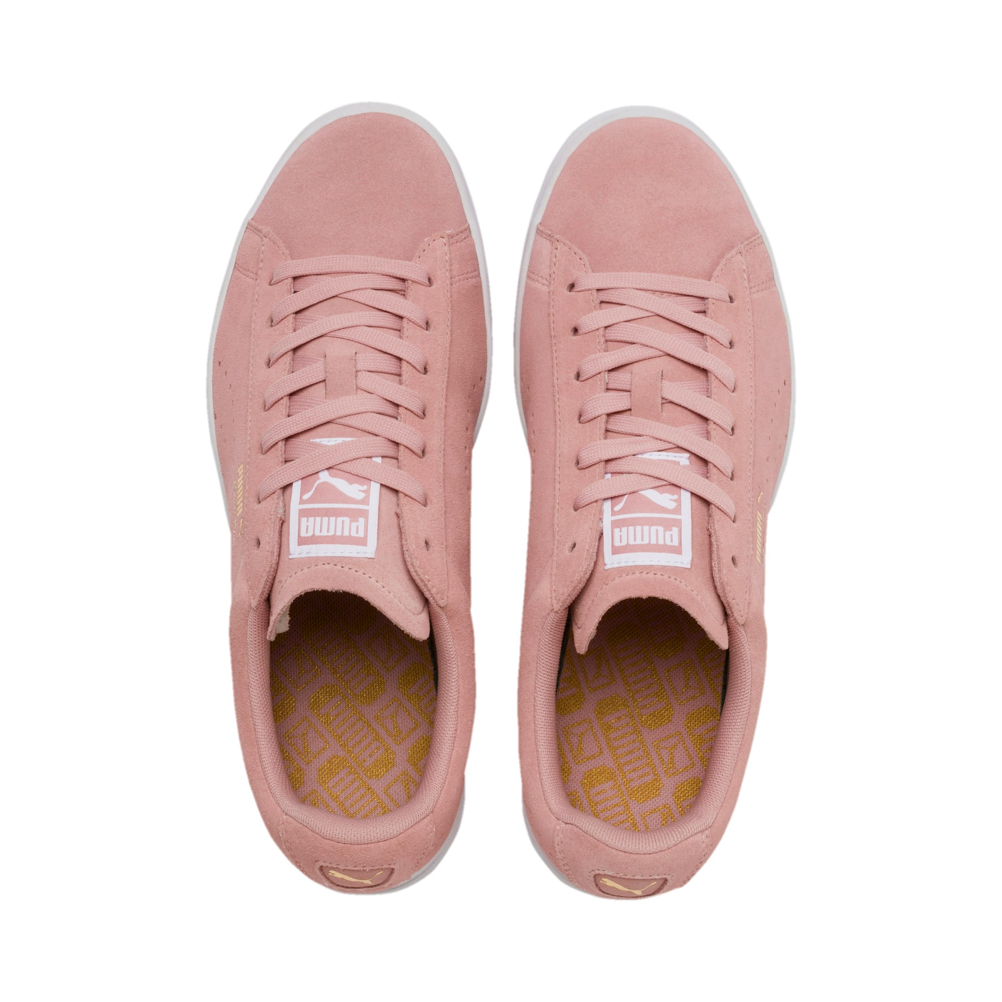 Thumbnail 7 of Court Star Suede Sneakers, Bridal Rose-Puma White, medium