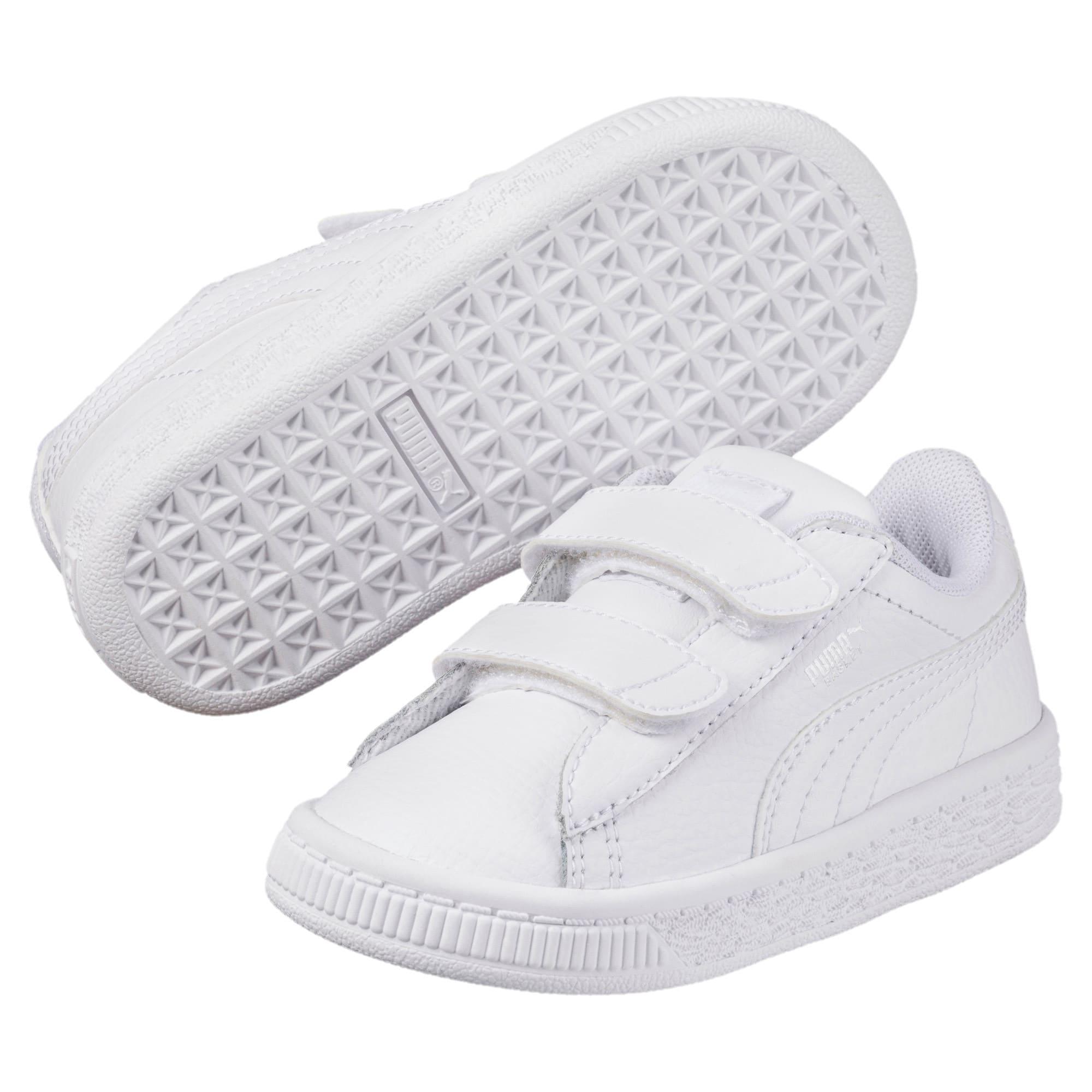 Thumbnail 2 of Basket Classic AC Toddler Shoes, Puma White-Puma White, medium