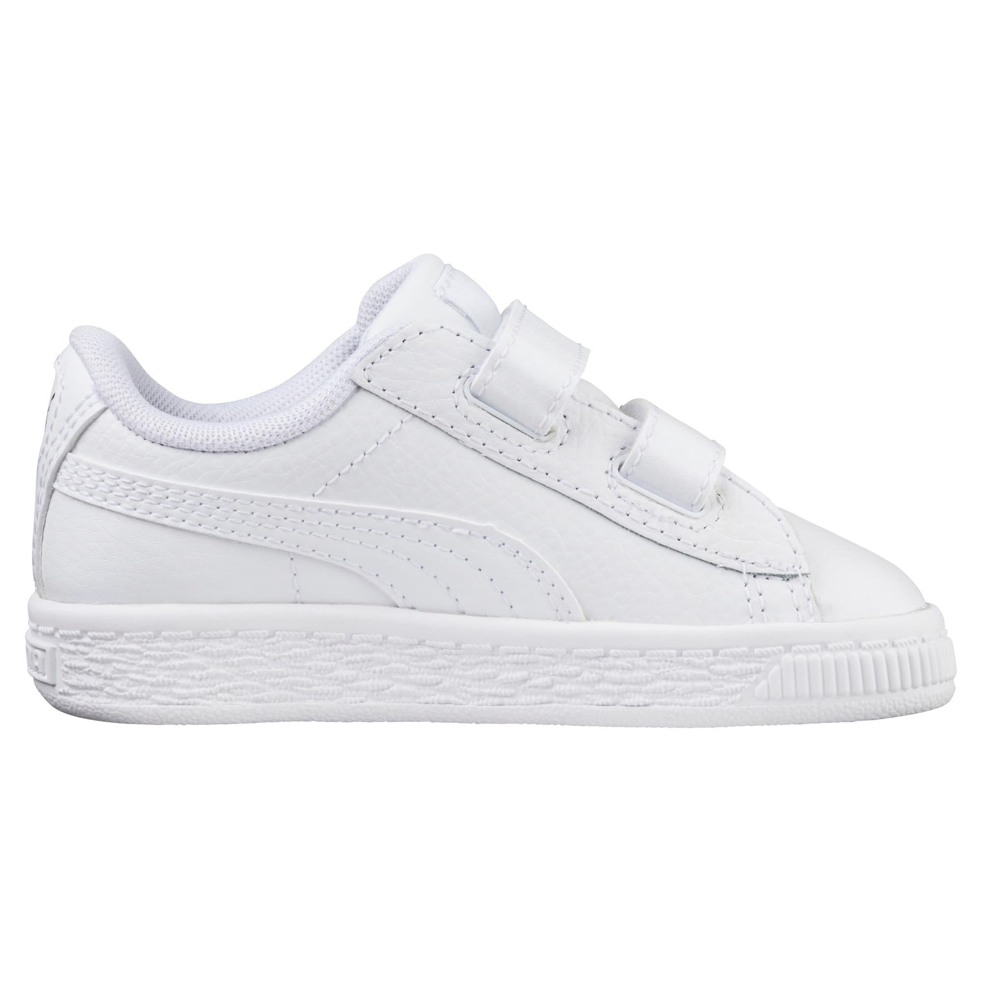 Thumbnail 3 of Basket Classic AC Toddler Shoes, Puma White-Puma White, medium