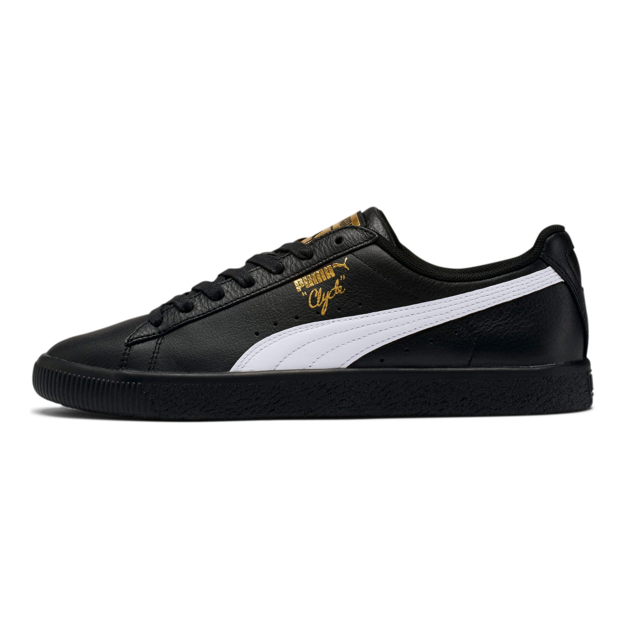 puma clyde homme gold and black
