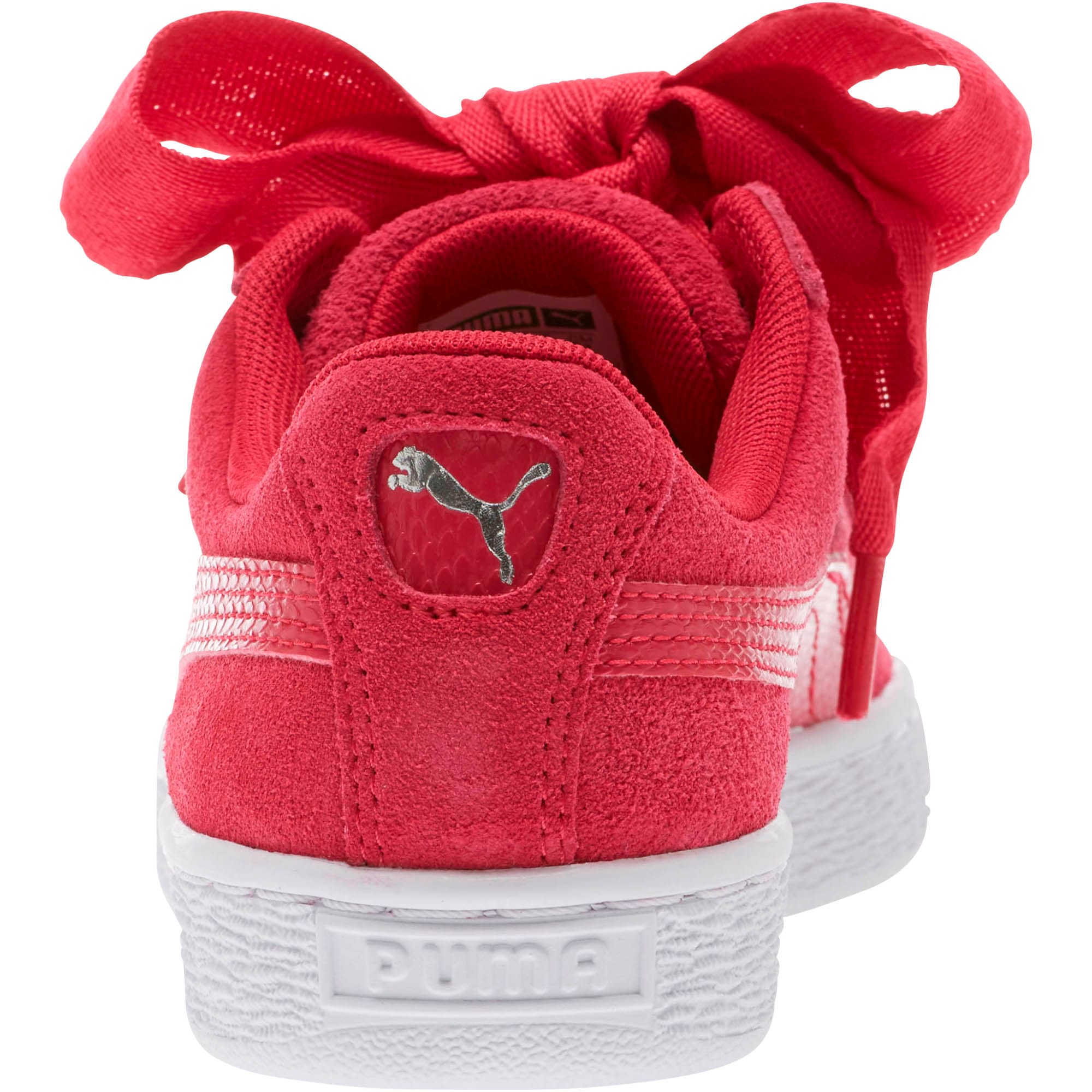 Thumbnail 4 of Suede Heart Snake Sneakers JR, Love Potion-Love Potion, medium