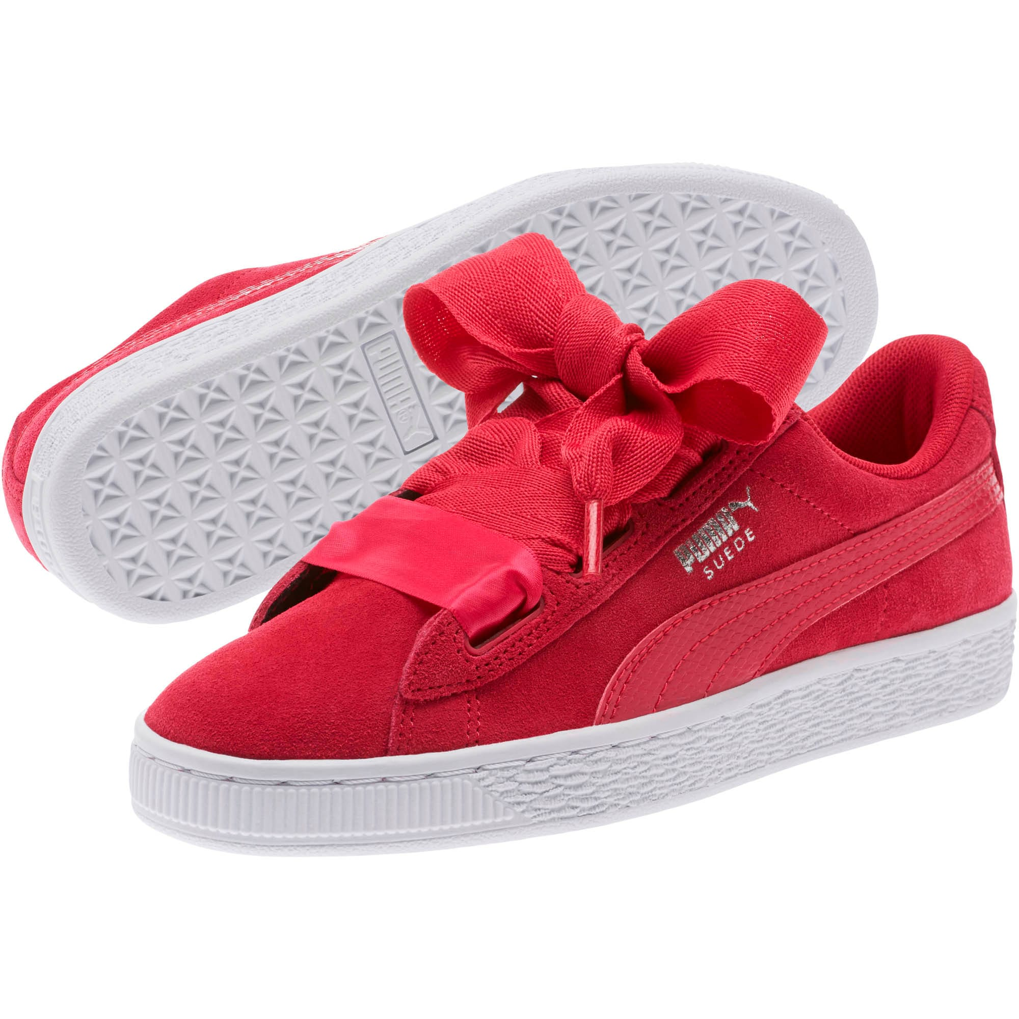 Thumbnail 2 of Suede Heart Snake Sneakers JR, Love Potion-Love Potion, medium