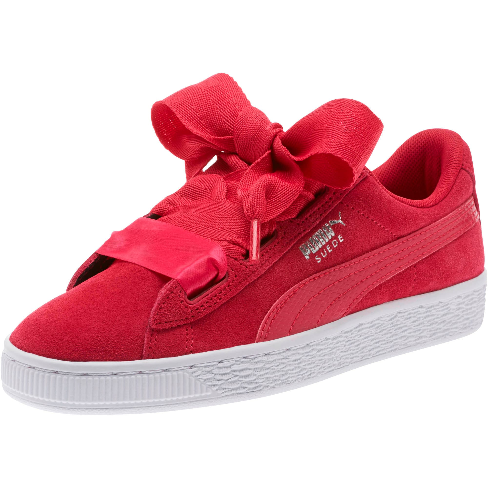 Thumbnail 1 of Suede Heart Snake Sneakers JR, Love Potion-Love Potion, medium