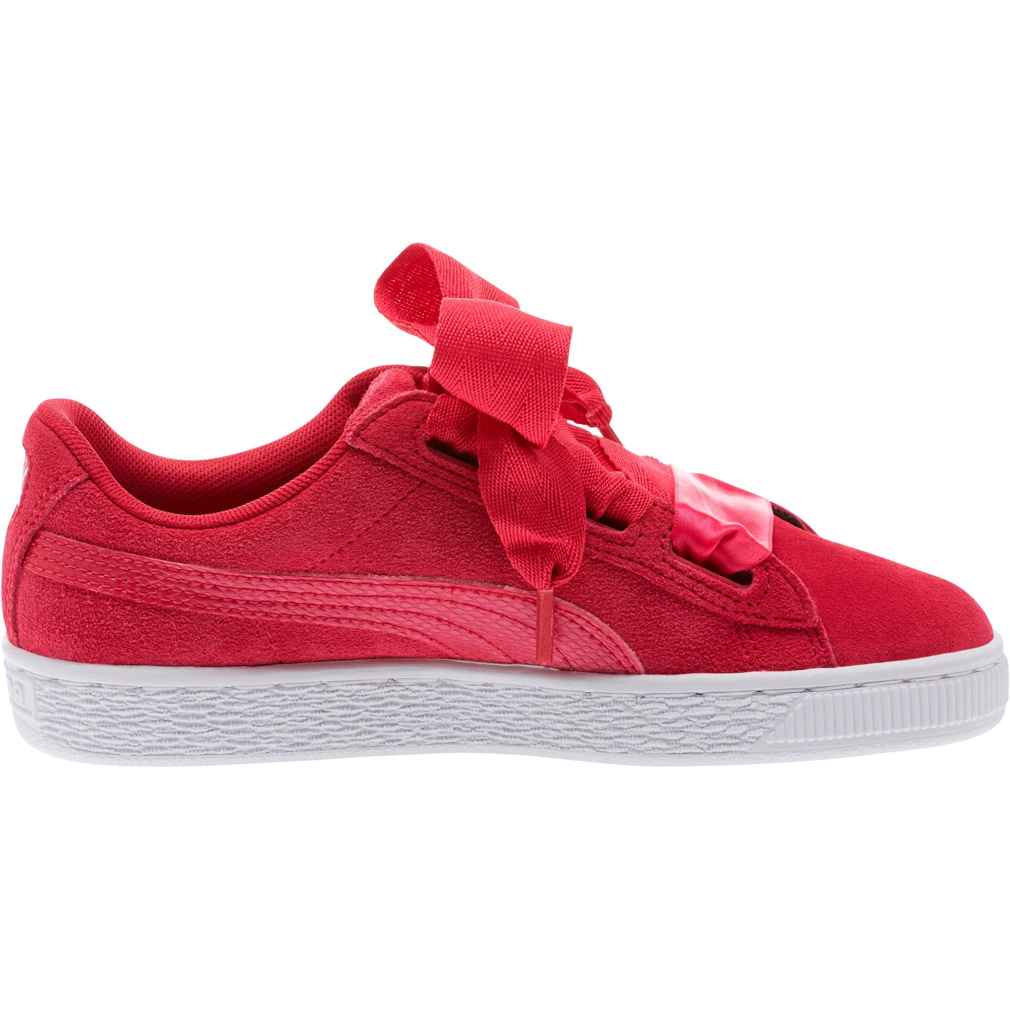Thumbnail 3 of Suede Heart Snake Sneakers JR, Love Potion-Love Potion, medium