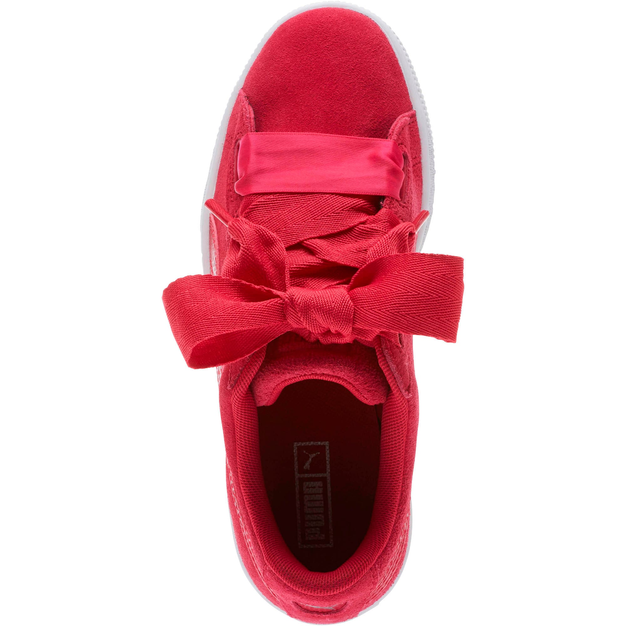 Thumbnail 5 of Suede Heart Snake Sneakers JR, Love Potion-Love Potion, medium