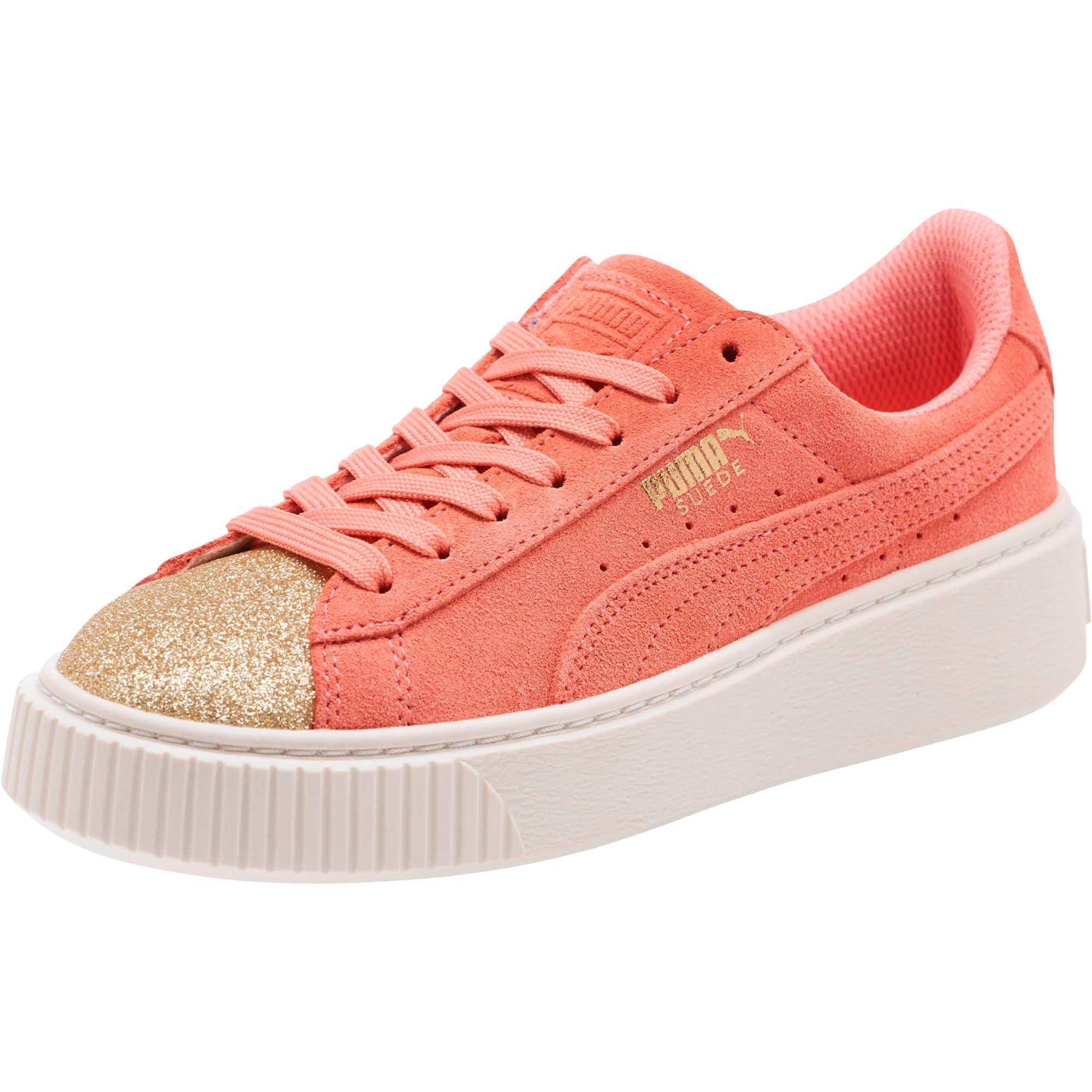 best cheap 34dac 5c237 Suede Platform Glam Girls' Sneakers