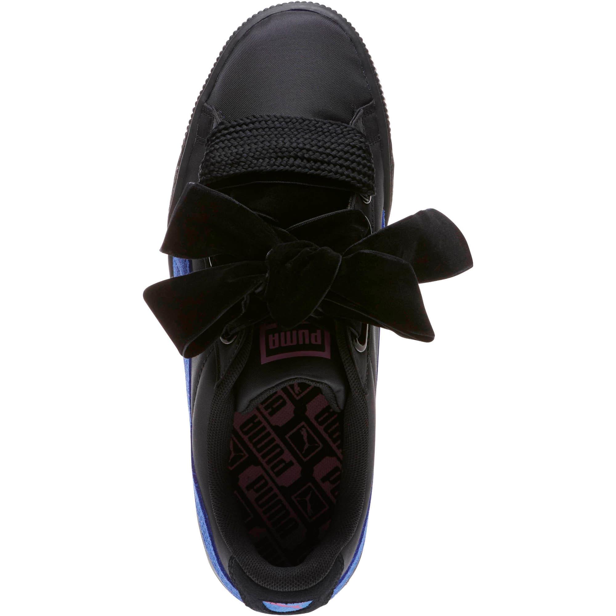 Thumbnail 5 of Basket Heart Nylon Women's Sneakers, Puma Black-Baja Blue, medium