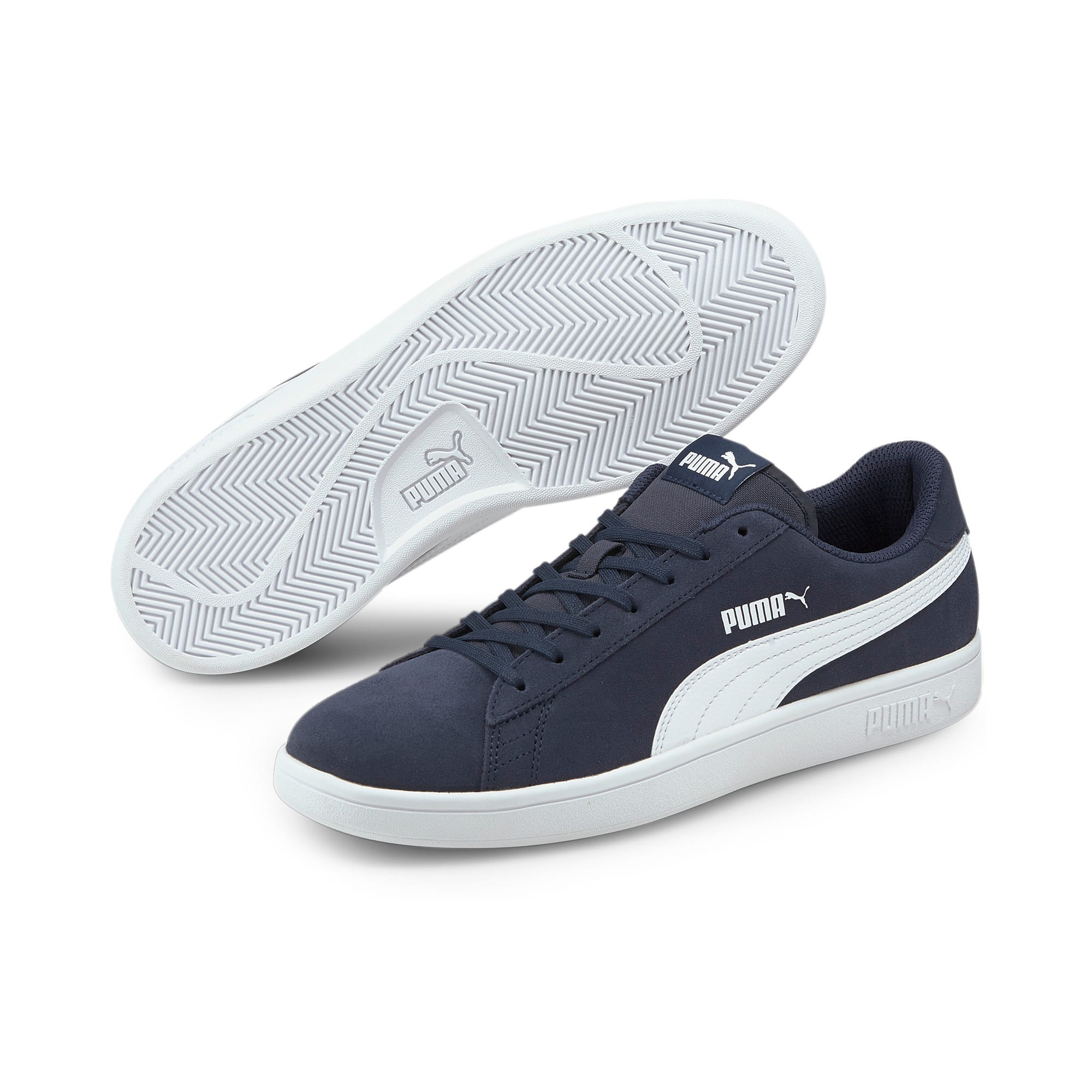 Thumbnail 2 of Smash v2 Trainers, Peacoat-Puma White, medium