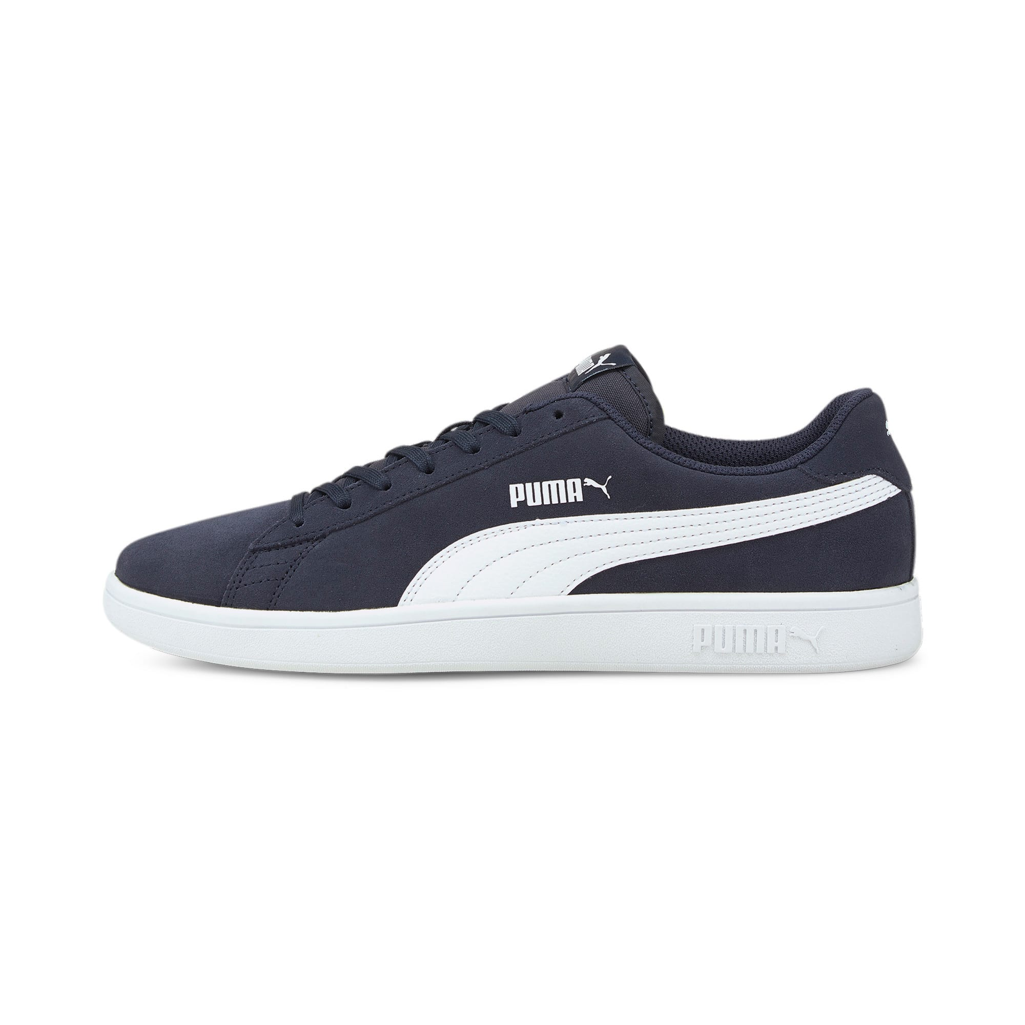 Thumbnail 1 of Smash v2 Trainers, Peacoat-Puma White, medium