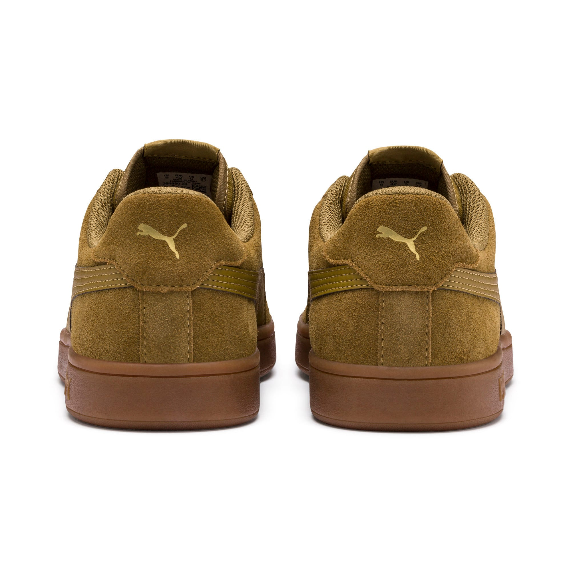 Thumbnail 4 of PUMA Smash v2 Sneakers, Moss Green-Team Gold-Gum, medium