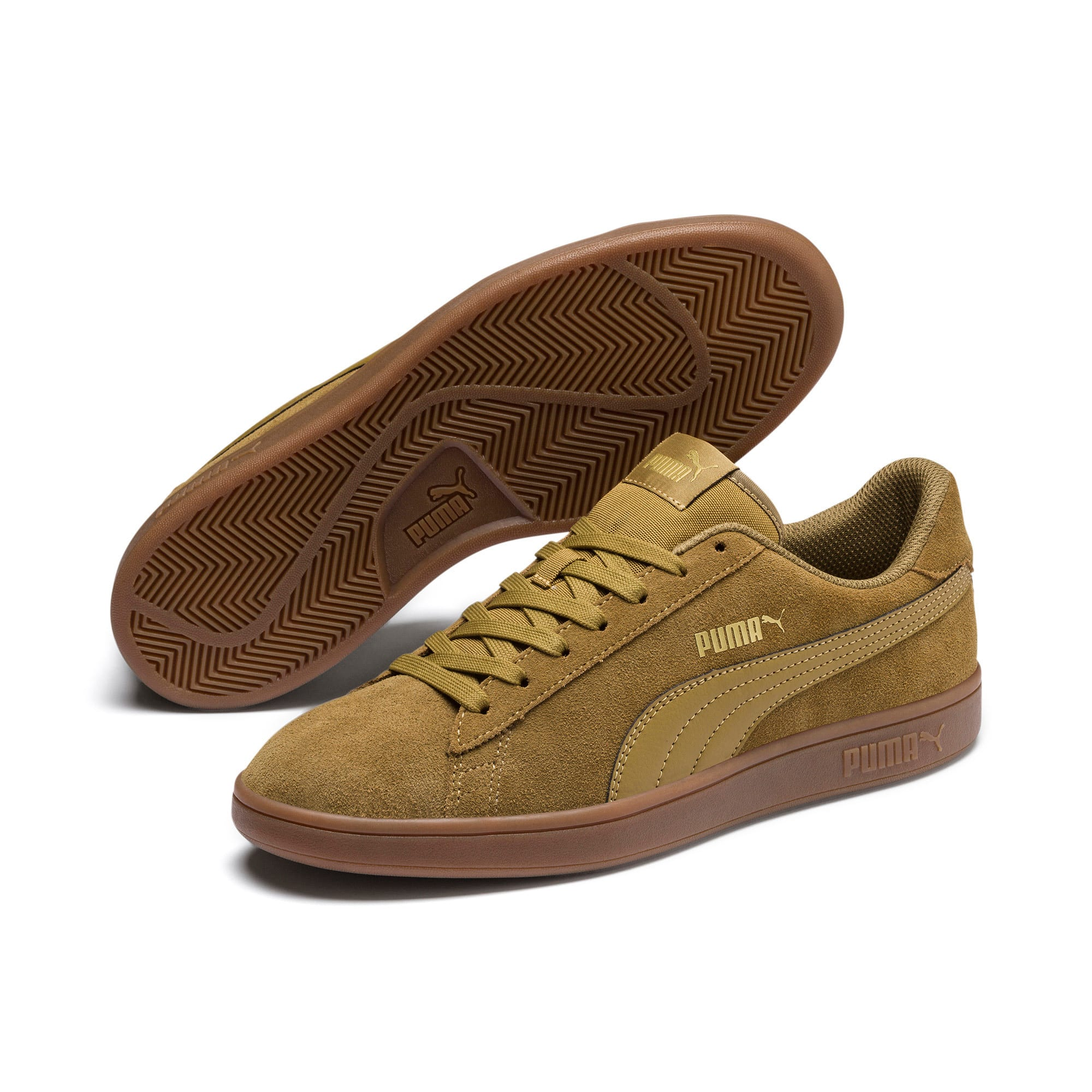 Thumbnail 2 of PUMA Smash v2 Sneakers, Moss Green-Team Gold-Gum, medium
