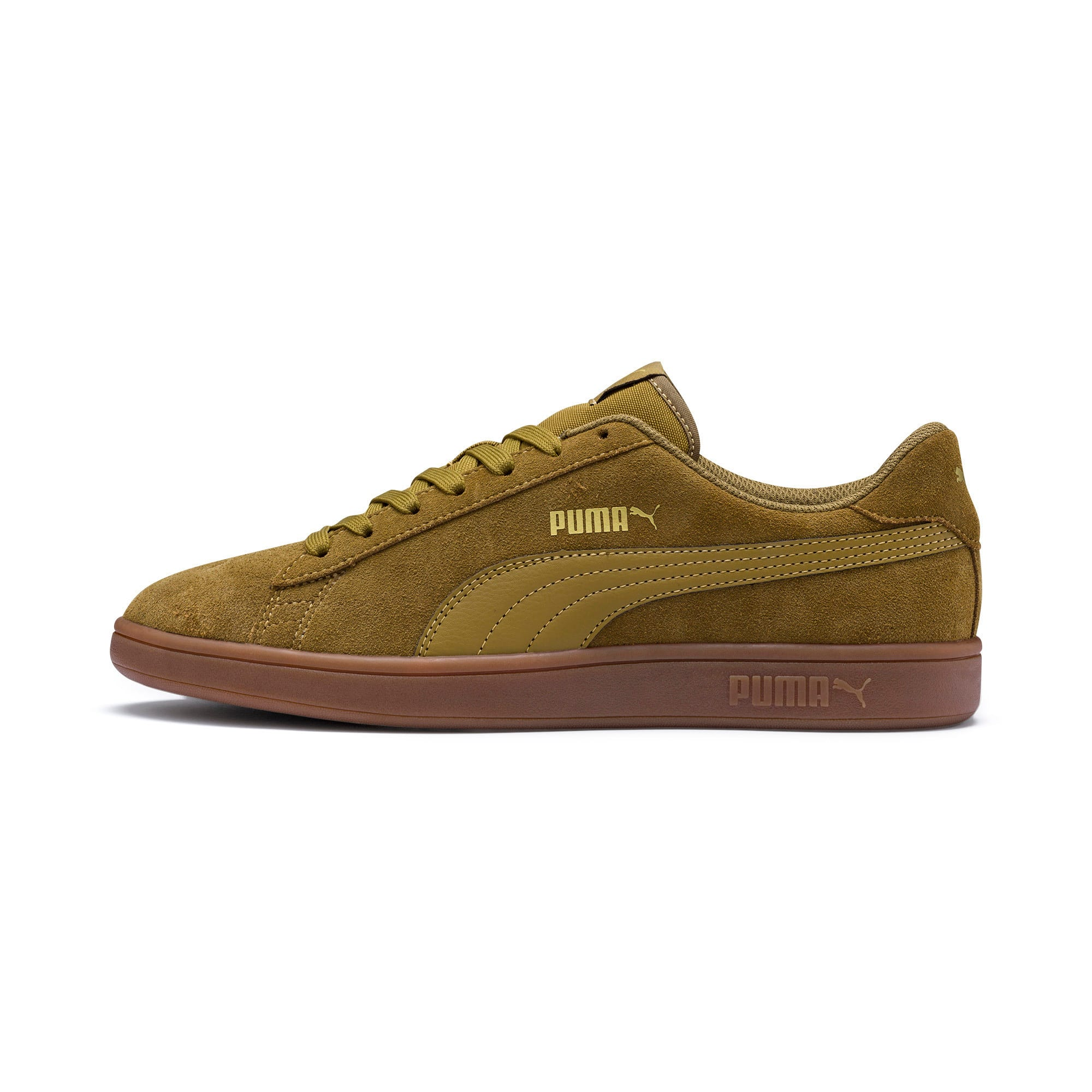 Thumbnail 1 of PUMA Smash v2 Sneakers, Moss Green-Team Gold-Gum, medium