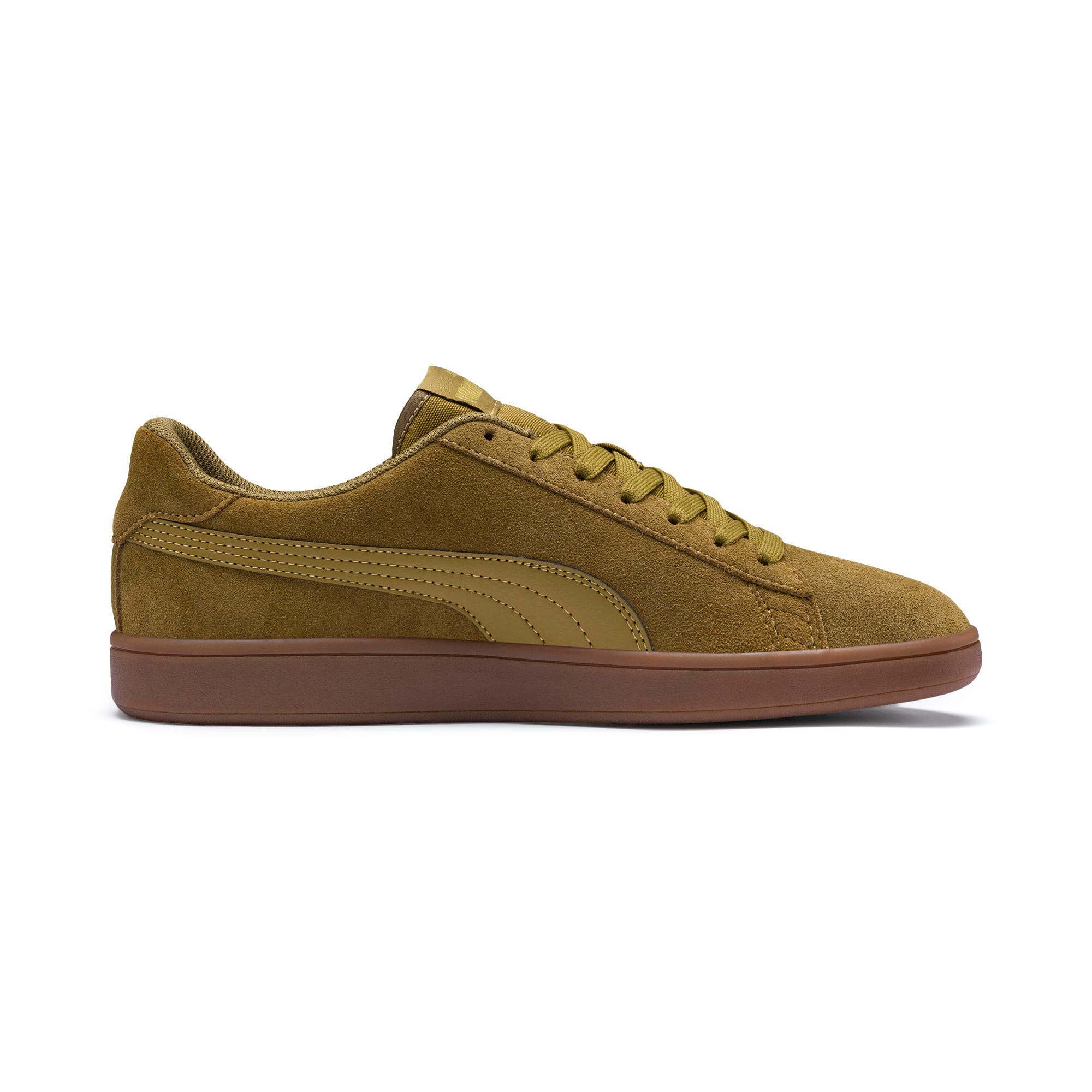 Thumbnail 6 of PUMA Smash v2 Sneakers, Moss Green-Team Gold-Gum, medium