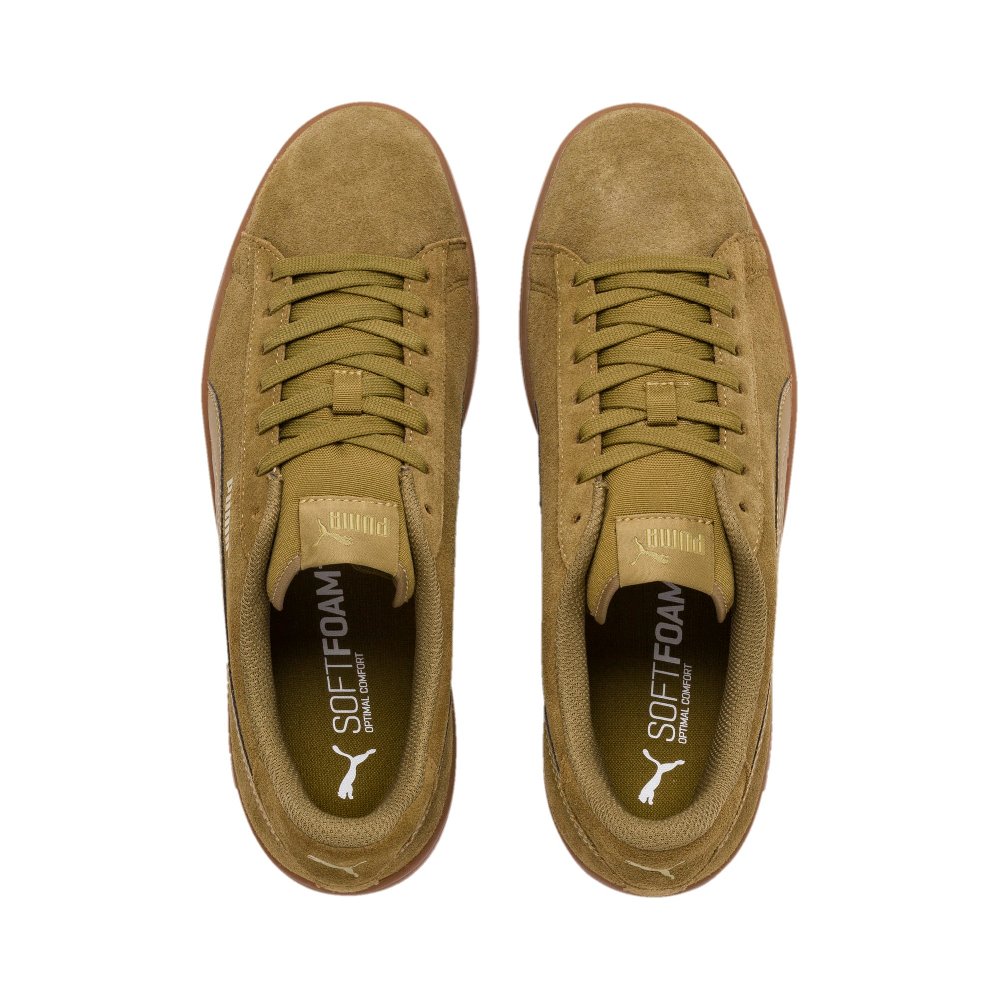 Thumbnail 7 of PUMA Smash v2 Sneakers, Moss Green-Team Gold-Gum, medium