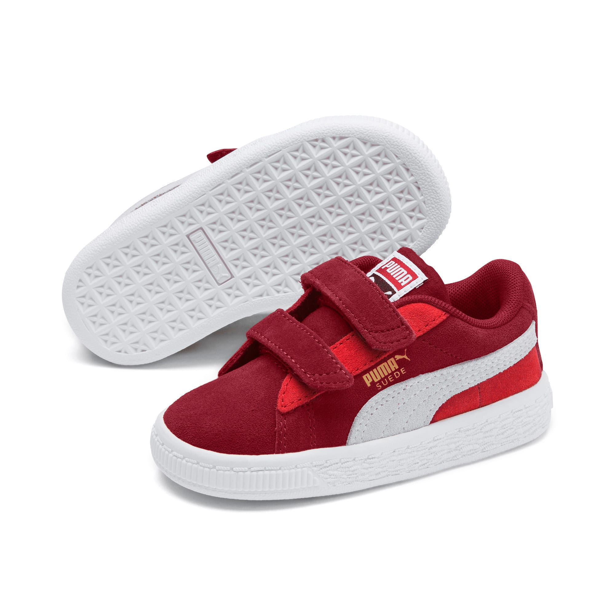 Thumbnail 1 of Suede Classic Toddler Shoes, Rhubarb-Puma W-High Risk Red, medium