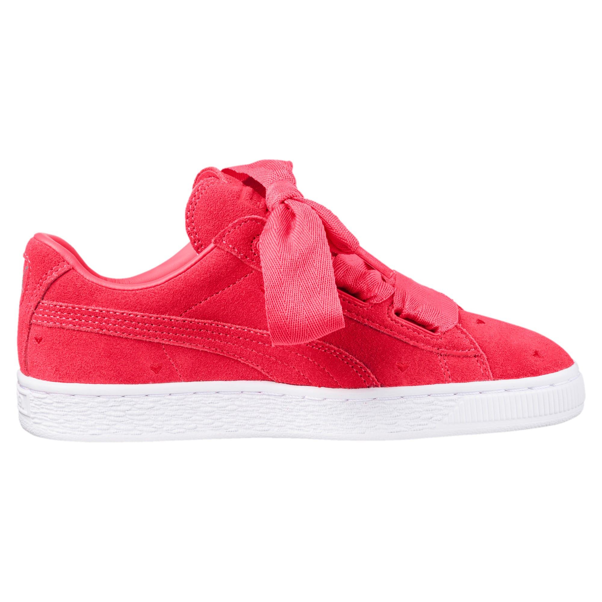 premium selection 4e286 066c9 Suede Heart Valentine Sneakers JR