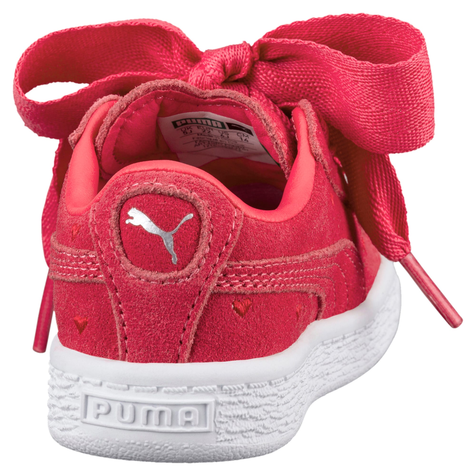 newest 3f4a5 34b23 Suede Heart Valentine Little Kids' Shoes