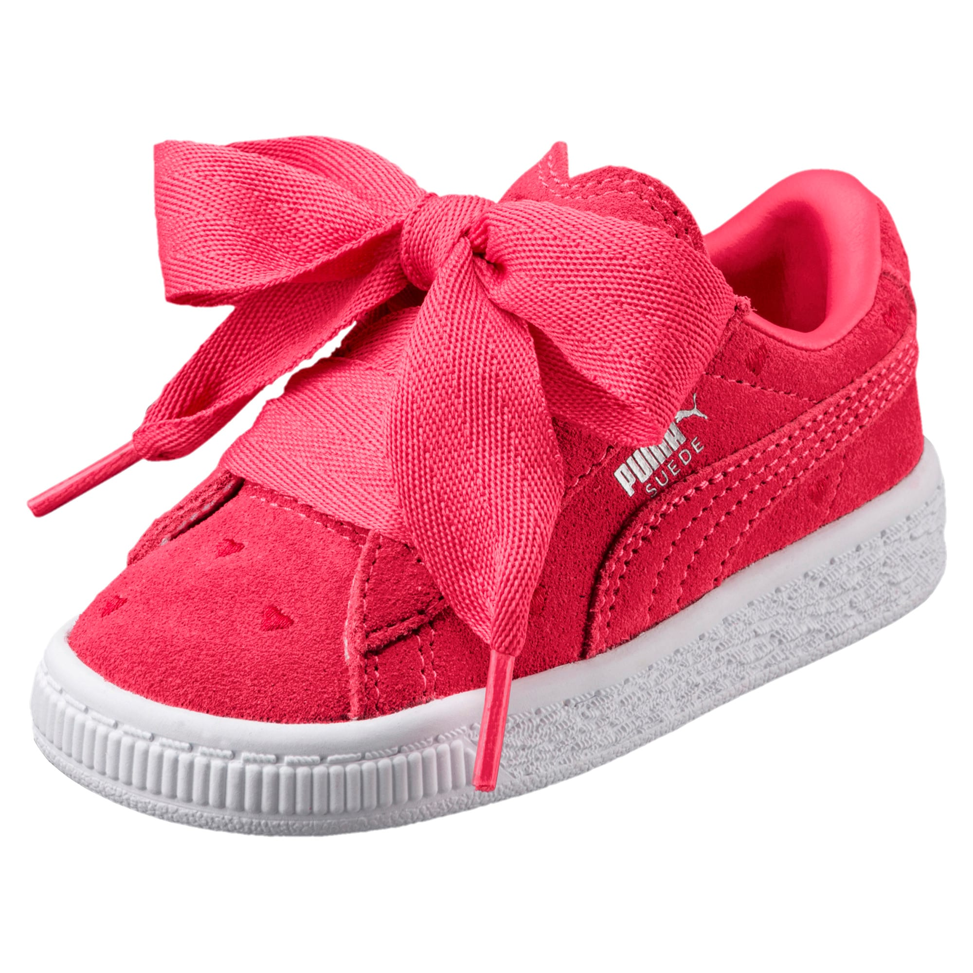 huge selection of 32e9f 8748f Suede Heart Valentine Girls' Trainers