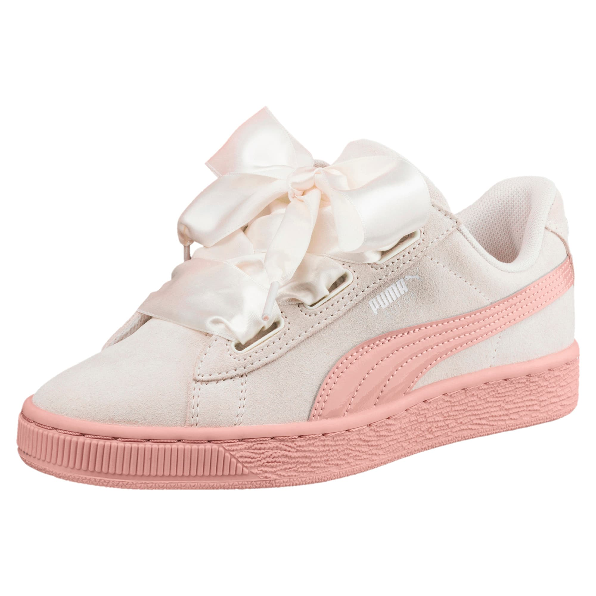 online store 3add1 f7ee8 Suede Heart Jewel Sneakers JR