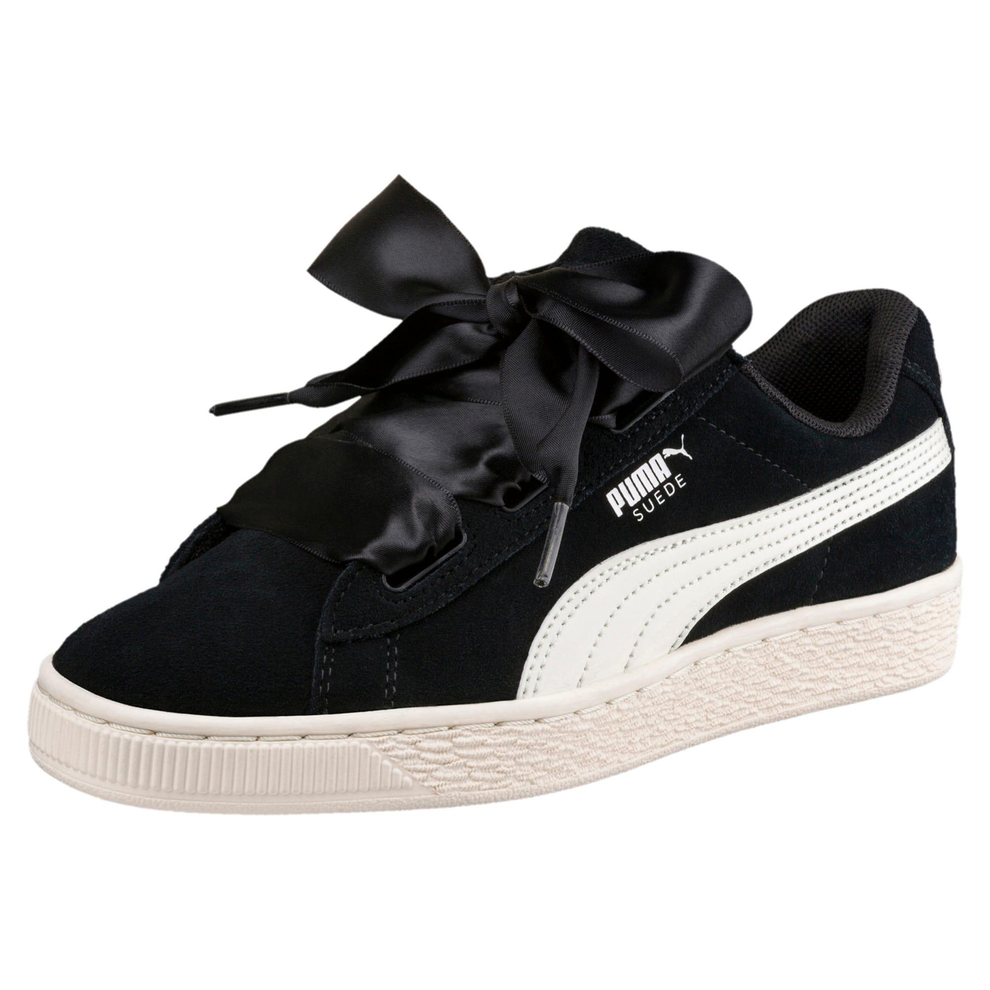 Suede Heart Jewel Sneakers JR