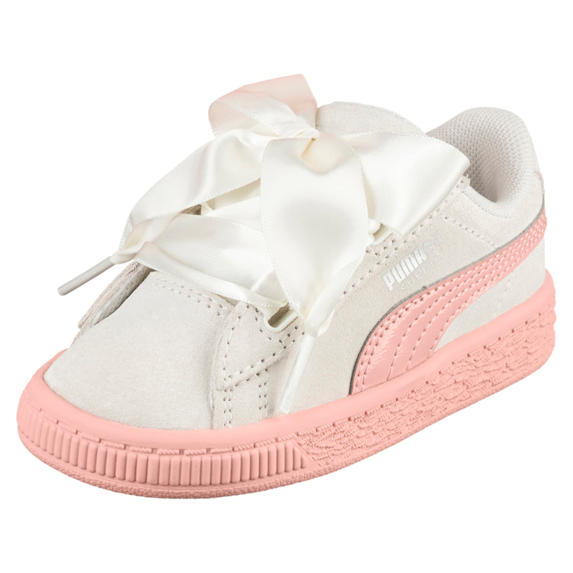 Suede Heart Jewel Toddler Shoes