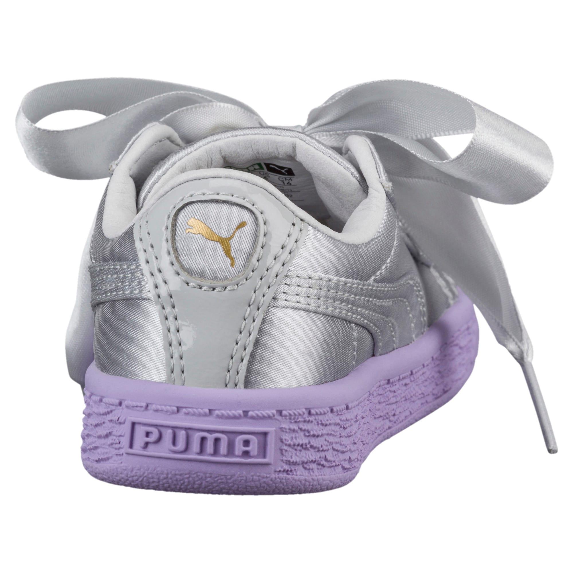 Thumbnail 4 of Basket Heart Toddler Shoes, Glacier Gray-Glacier Gray, medium